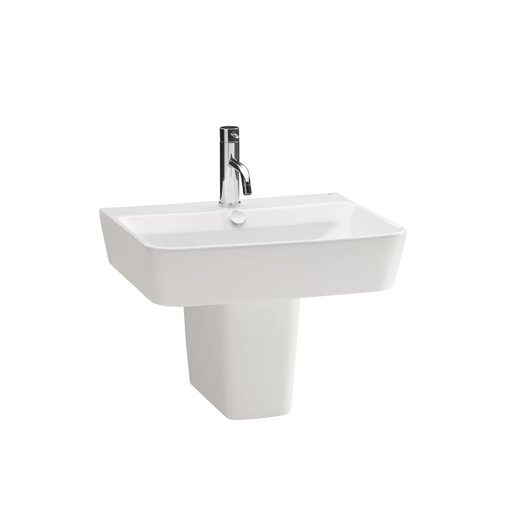 Industrial Pedestal Sink Bissonnet Emma Full Pedestal Overflow Bathroom Sink
