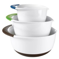 OXO Good Grips 3 Piece Plastic Mixing Bowl Set & Reviews ...