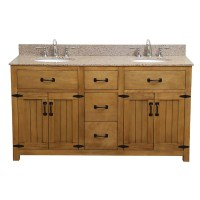 "DECOLAV Countryside 61"" Double Freestanding Vanity Set ..."