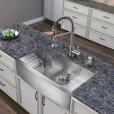 Vigo All In One 36quot X 2225quot Farmhouse Kitchen Sink And