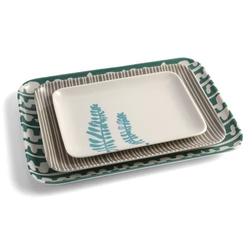 Serviertablett Klein Lotta Jansdotter Small 3 Piece Serving Tray Set & Reviews