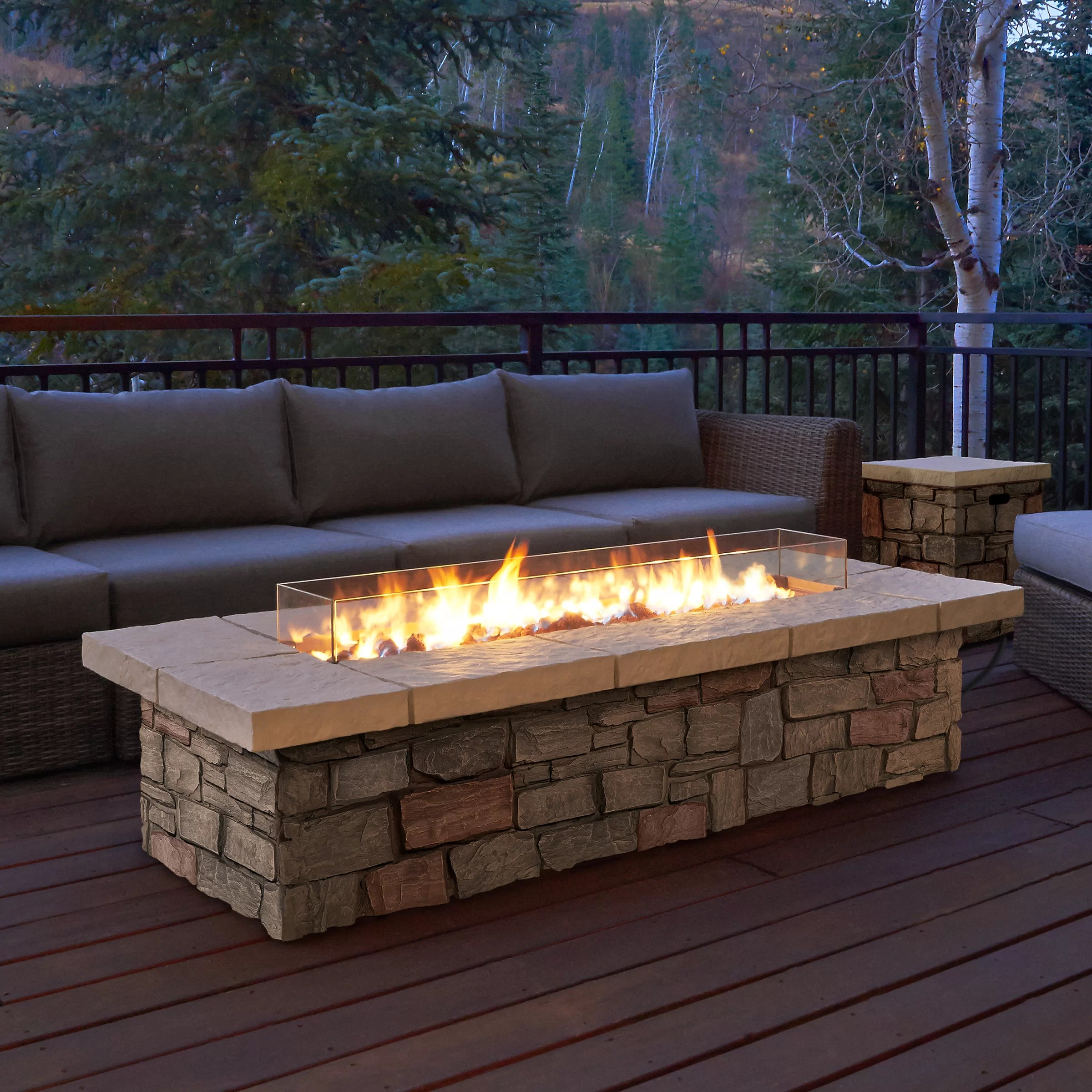 Fireplace Tables Outdoor Real Flame Sedona Propane Fire Pit Table And Reviews Wayfair