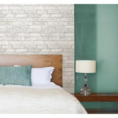 WallPops! Grey and White Brick Peel And Stick Wallpaper & Reviews | Wayfair