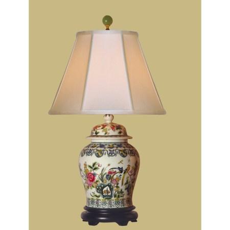 Porcelain Floral Table Lamp