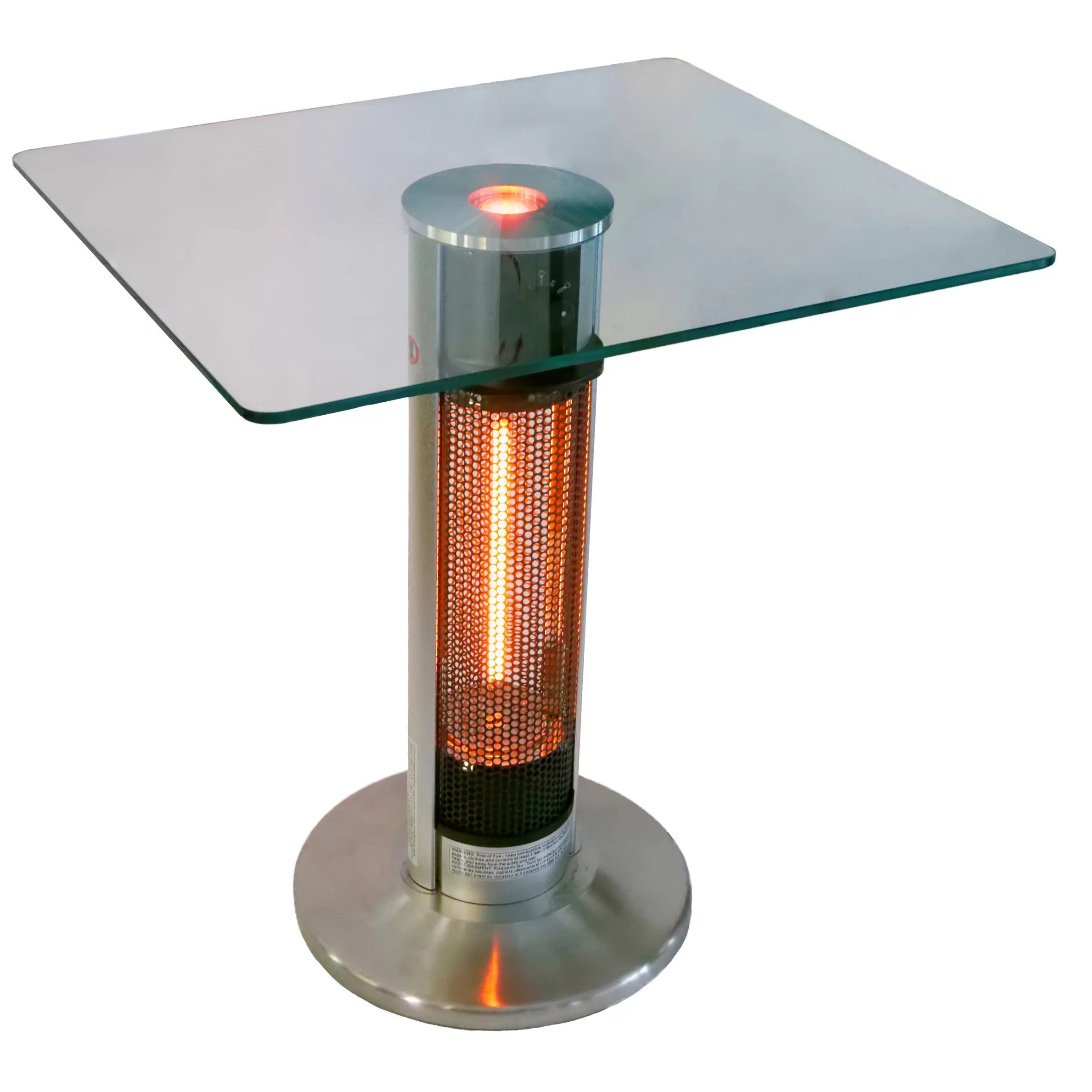 4760 Btu Portable Electric Infrared Tower Heater With Led