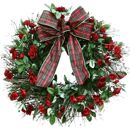 Fresh Decorated Christmas Wreaths