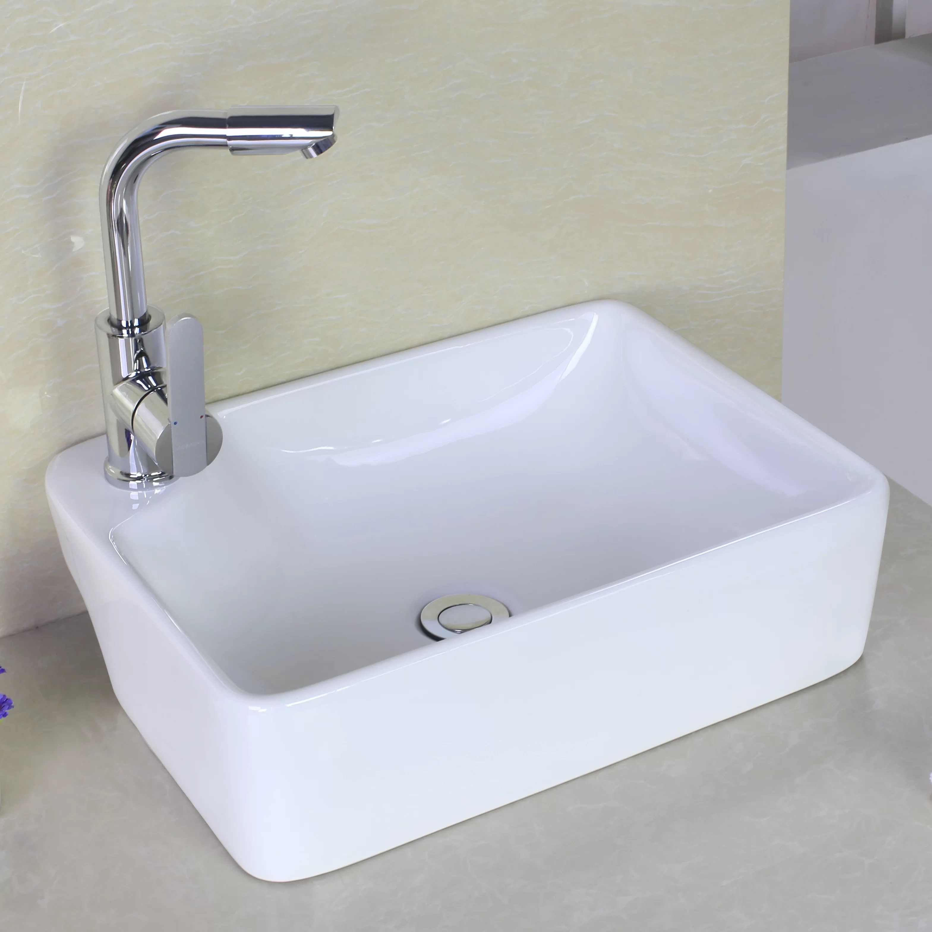 Above Counter Rectangle Vessel Bathroom Sink Wayfair