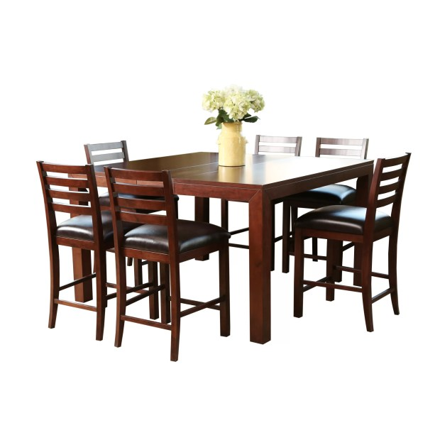 east west chelsea 7 piece counter height dining set
