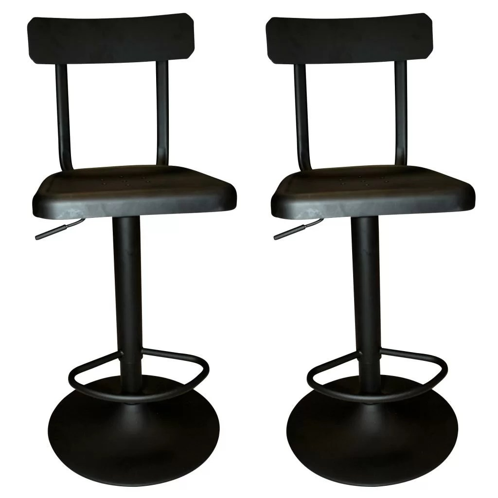 Industrial Counter Height Bar Stools Nspire Industrial Adjustable Height Swivel Bar Stool
