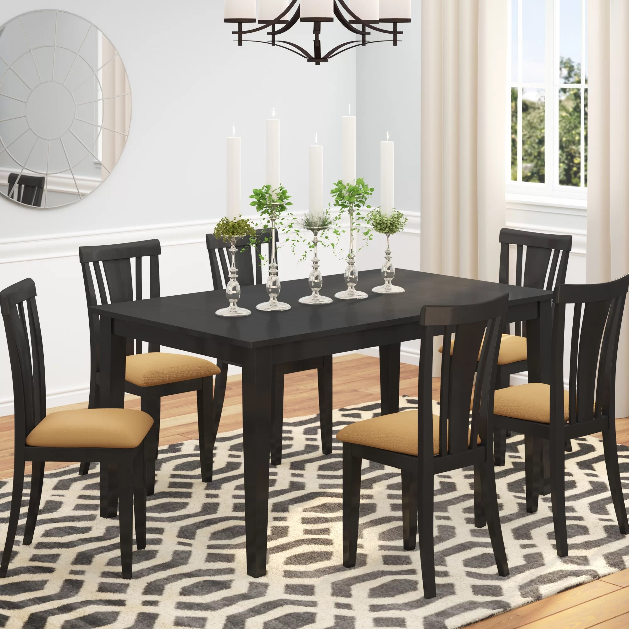 Modern Dining Set Oneill Modern 7 Piece Wood Dining Set