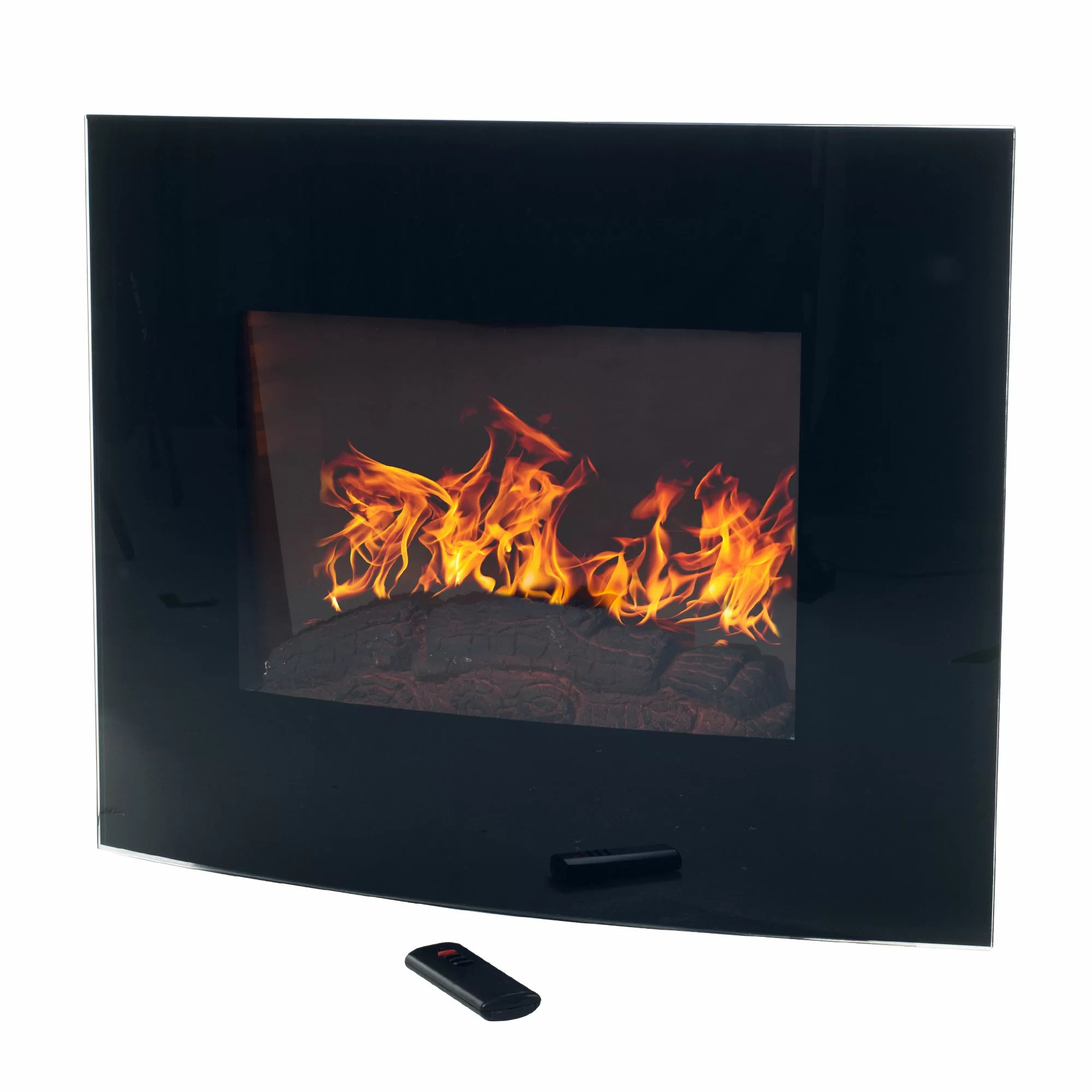 Curved Electric Fireplace Bartow Curved Wall Mounted Electric Fireplace