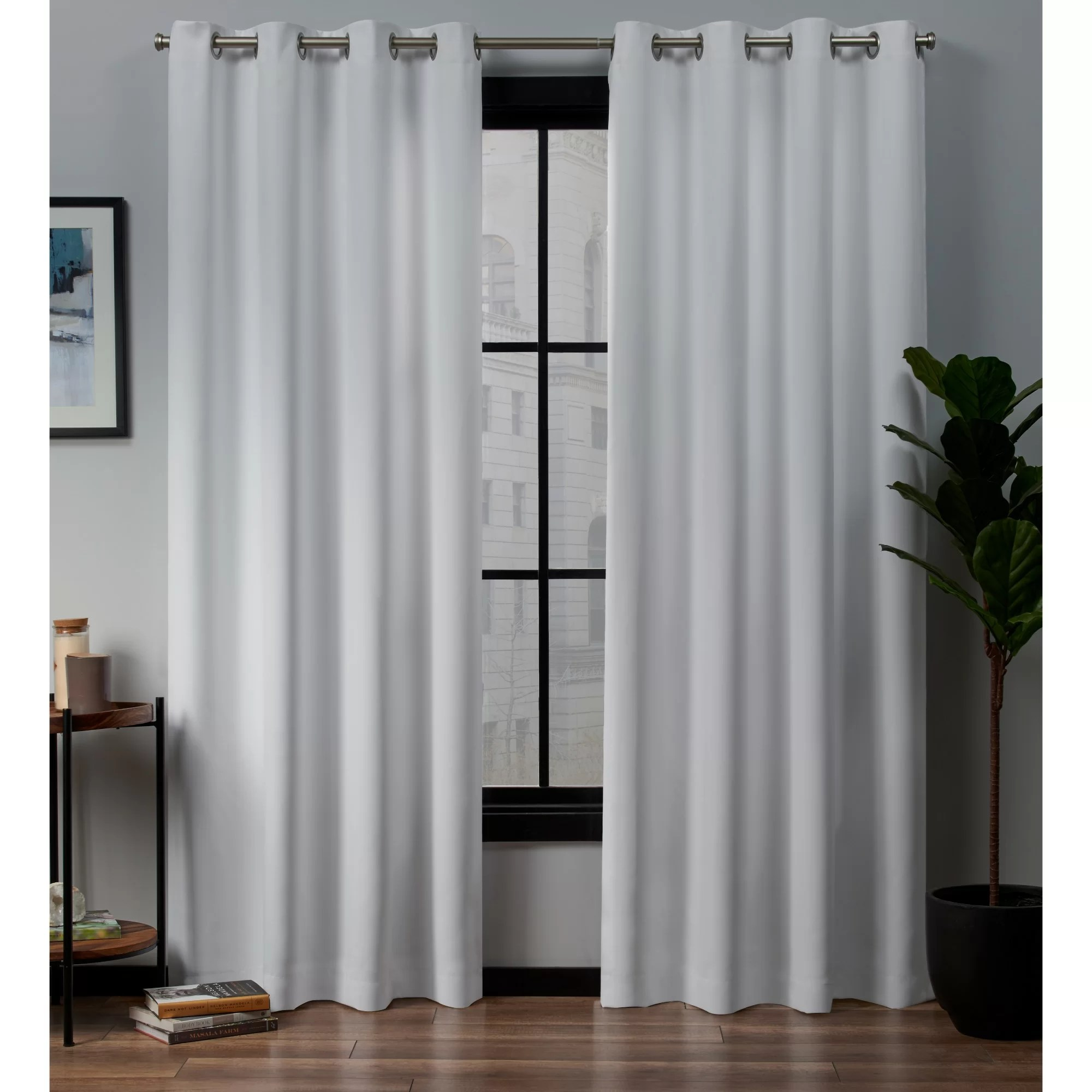 Thermal Patio Door Curtains With Grommets Loraine Solid Blackout Thermal Grommet Curtain Panels
