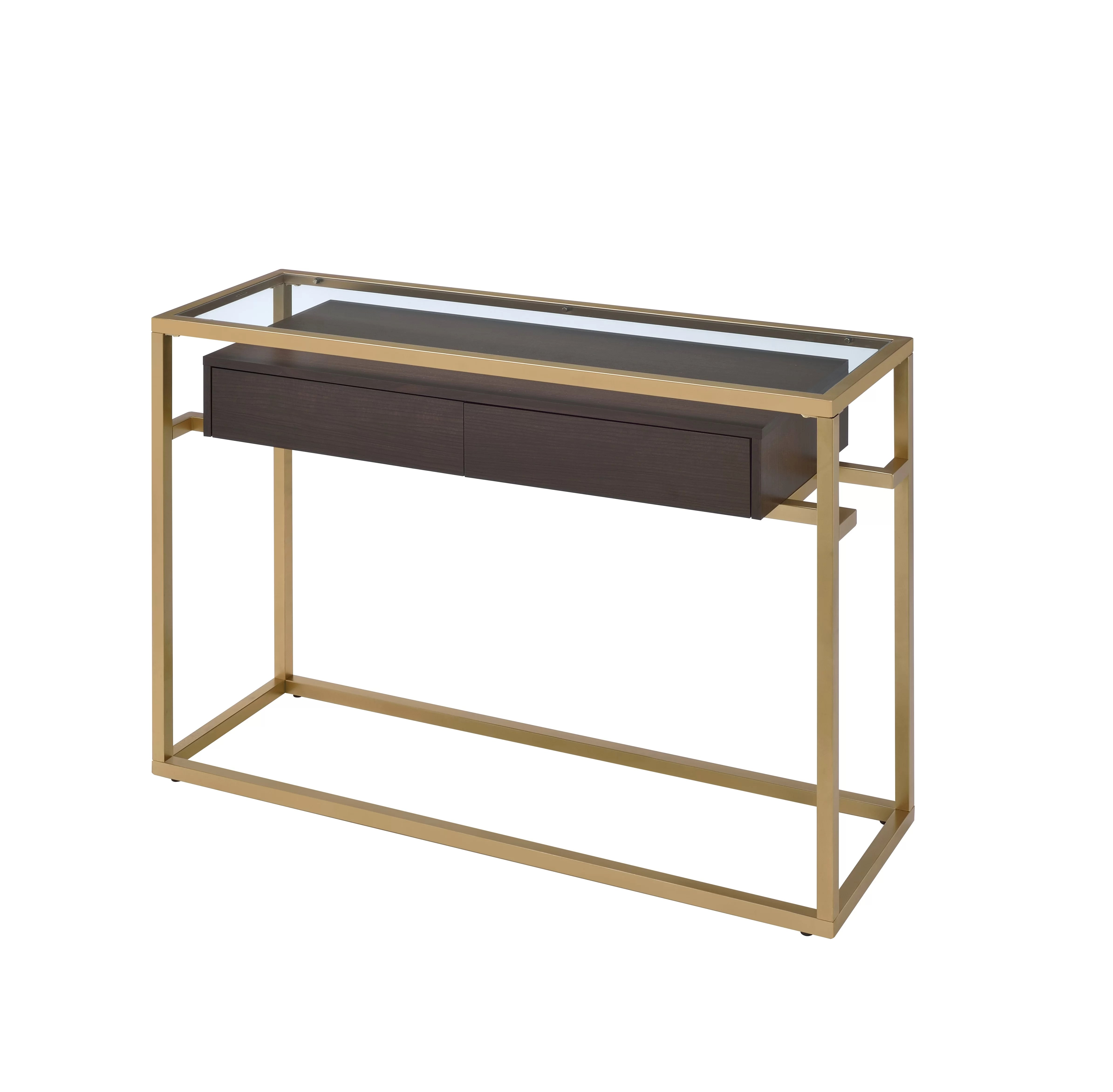 Glass Top Console Table Danyel Glass Console Table