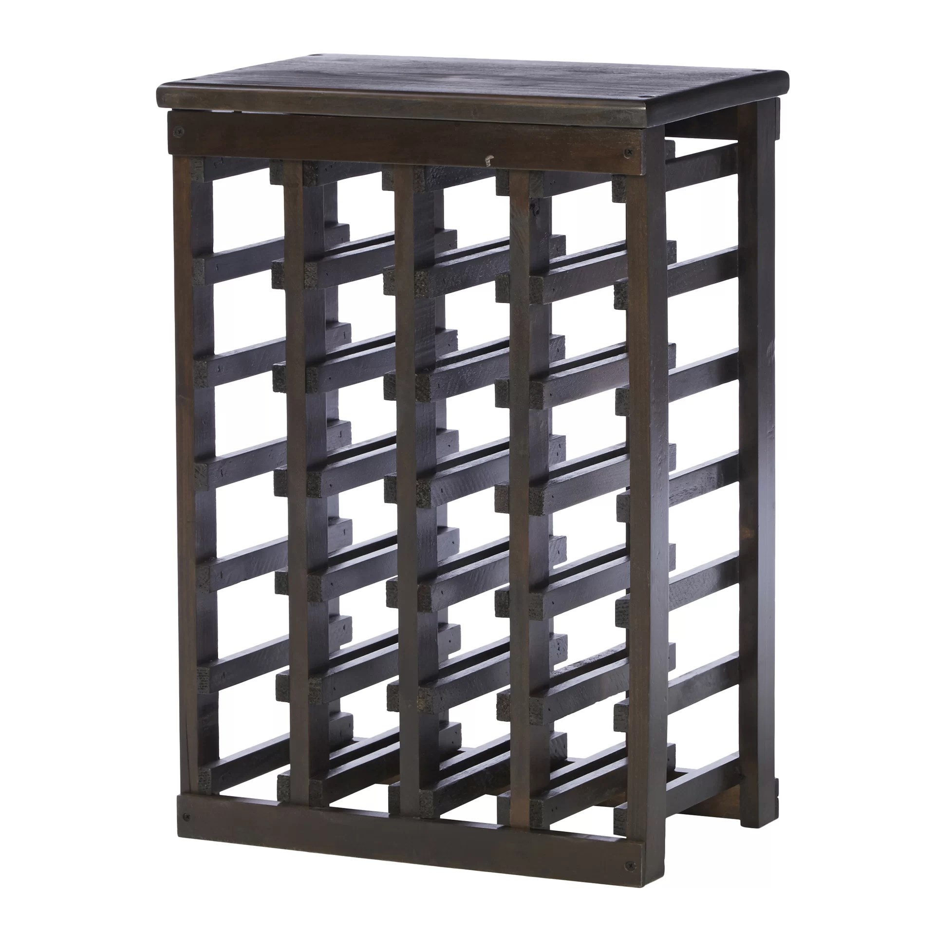 Wooden Bottle Rack Garris 24 Bottle Floor Wine Bottle Rack