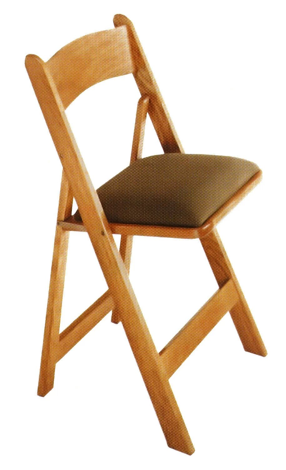 Collapsible Chair Oak Wood Padded Folding Chair