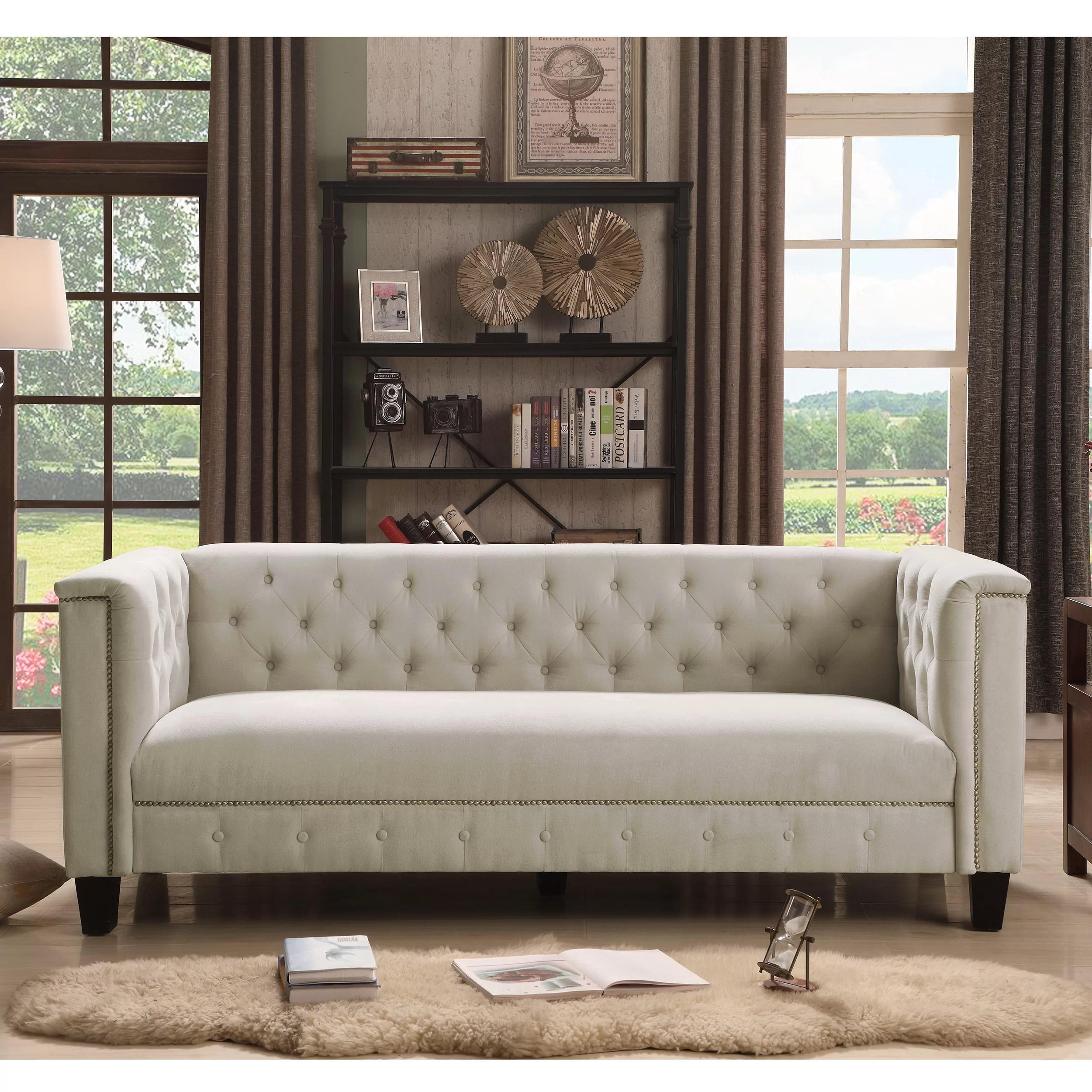 Sofa In Chesterfield Look Broughtonville Chesterfield Sofa