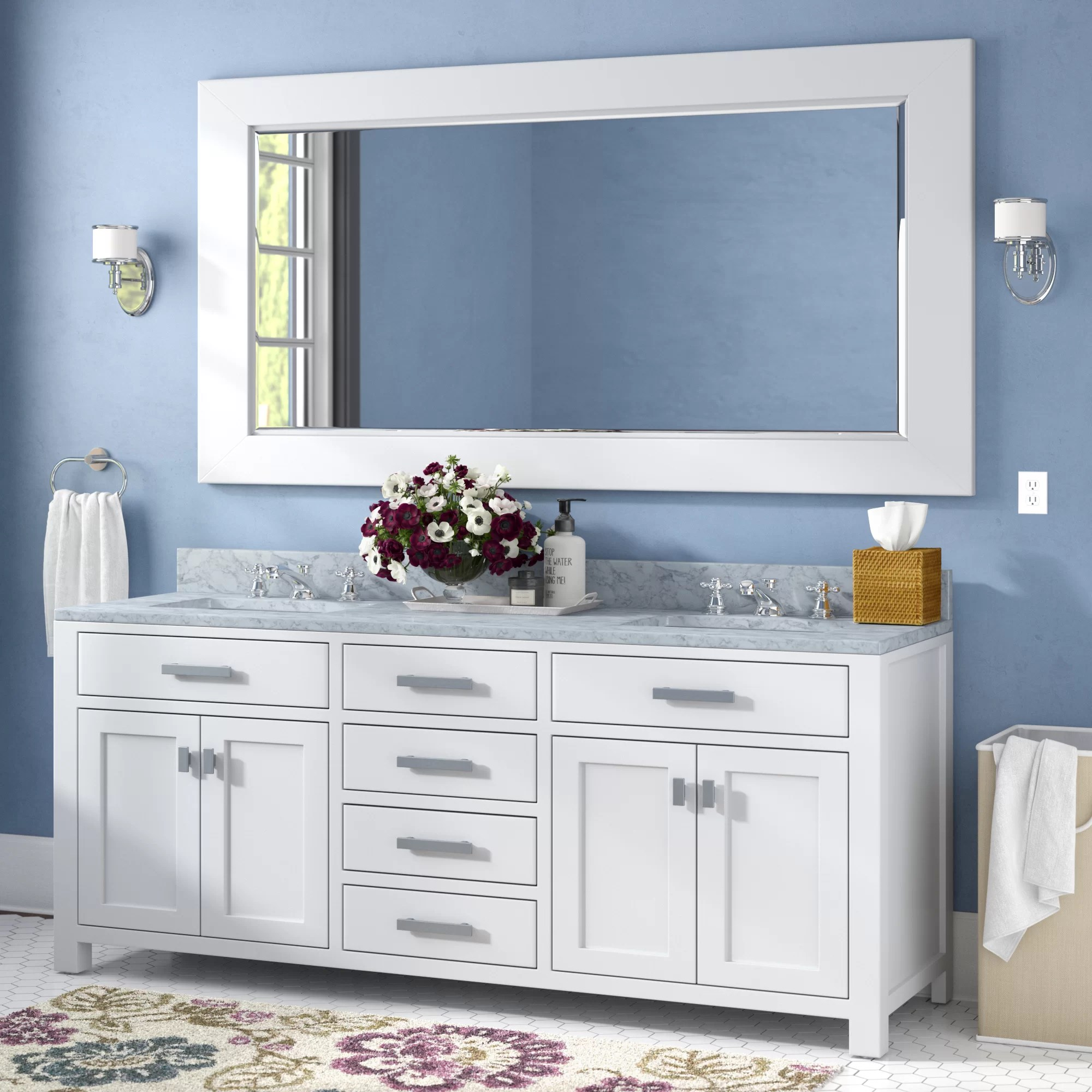 Bathroom Vanity 72 Double Sink Raven 72