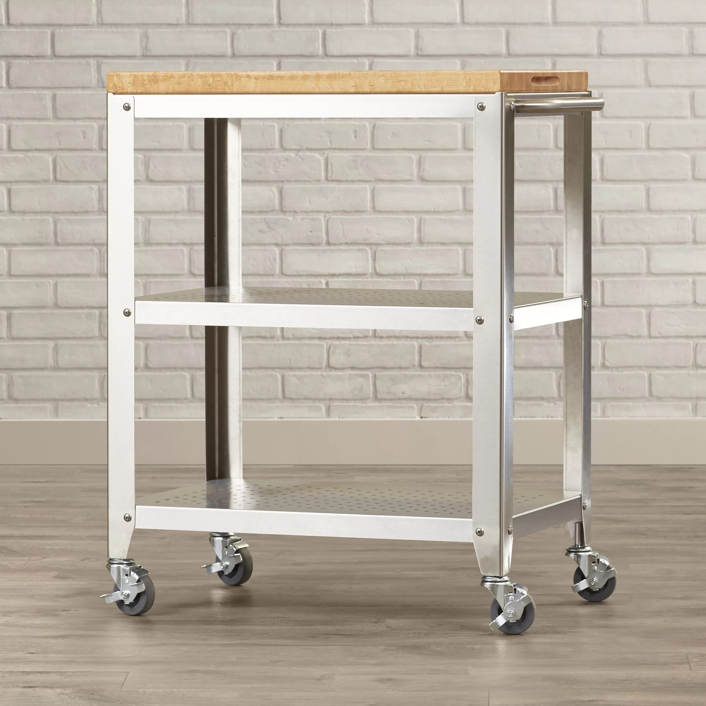 Cucina Americana Foto Cucina Americana Kitchen Cart With Butcher Block Top