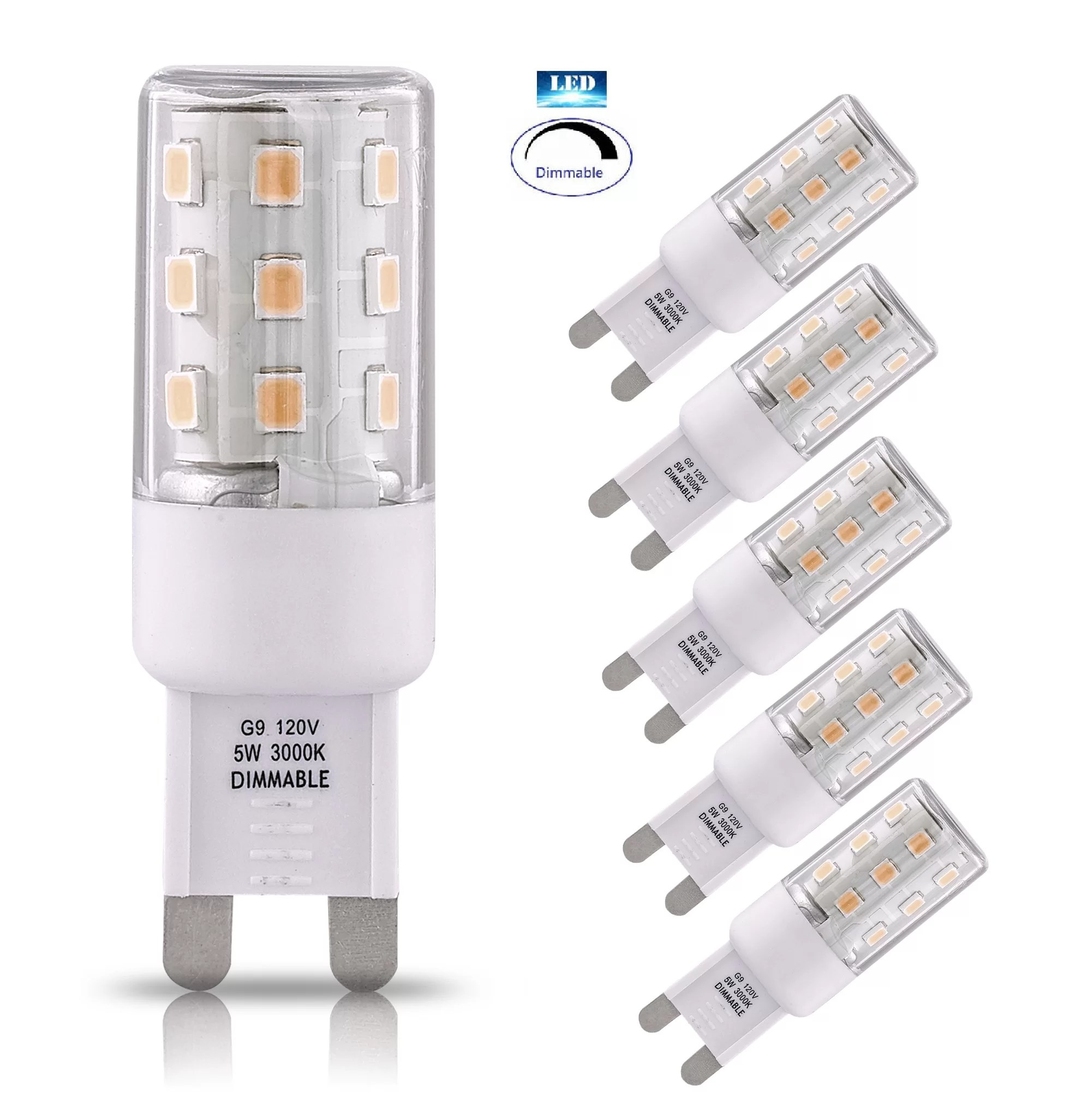 Led G9 5w 5w G9 Dimmable Led Light Bulb