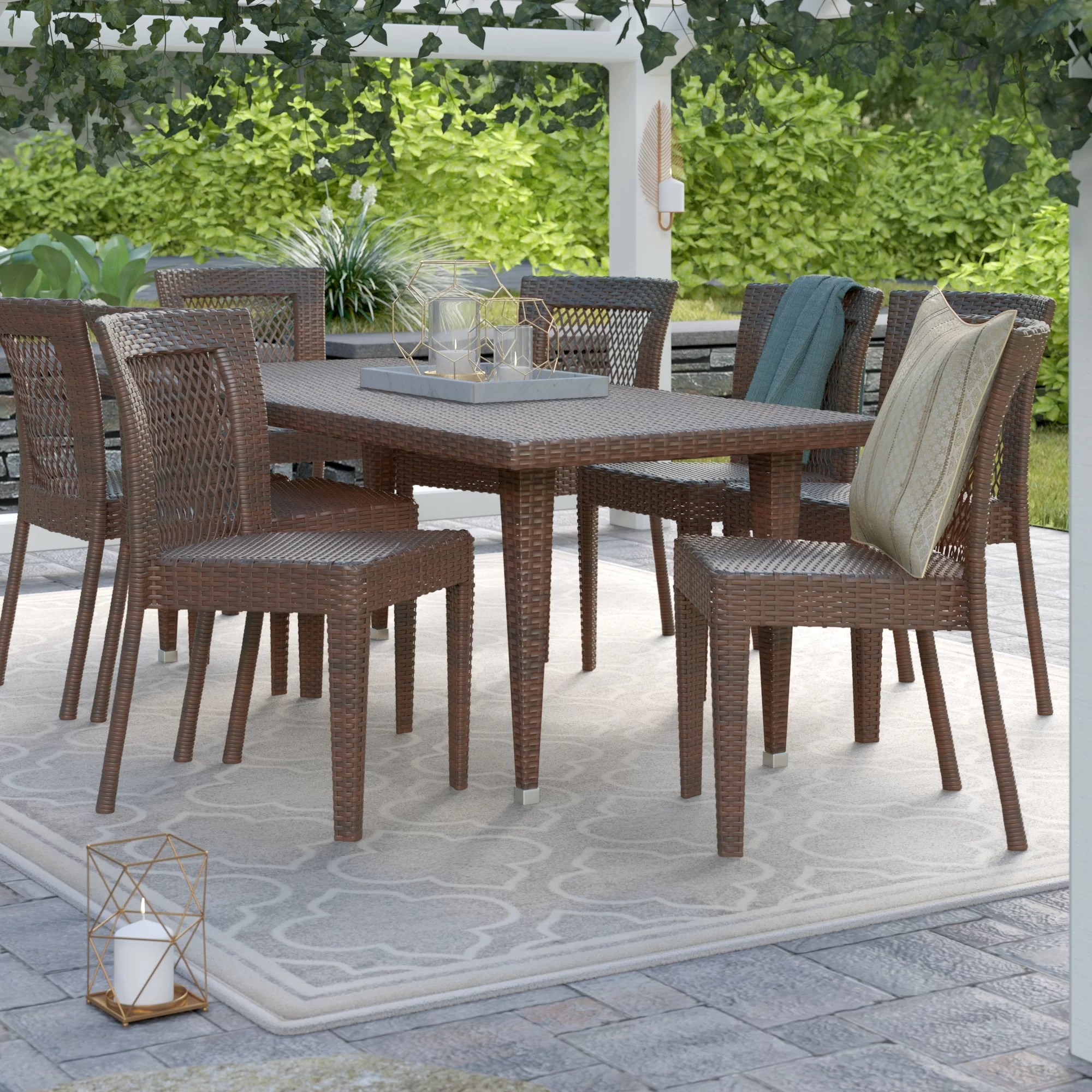 9 Piece Outdoor Dining Set Diaz 9 Piece Dining Set