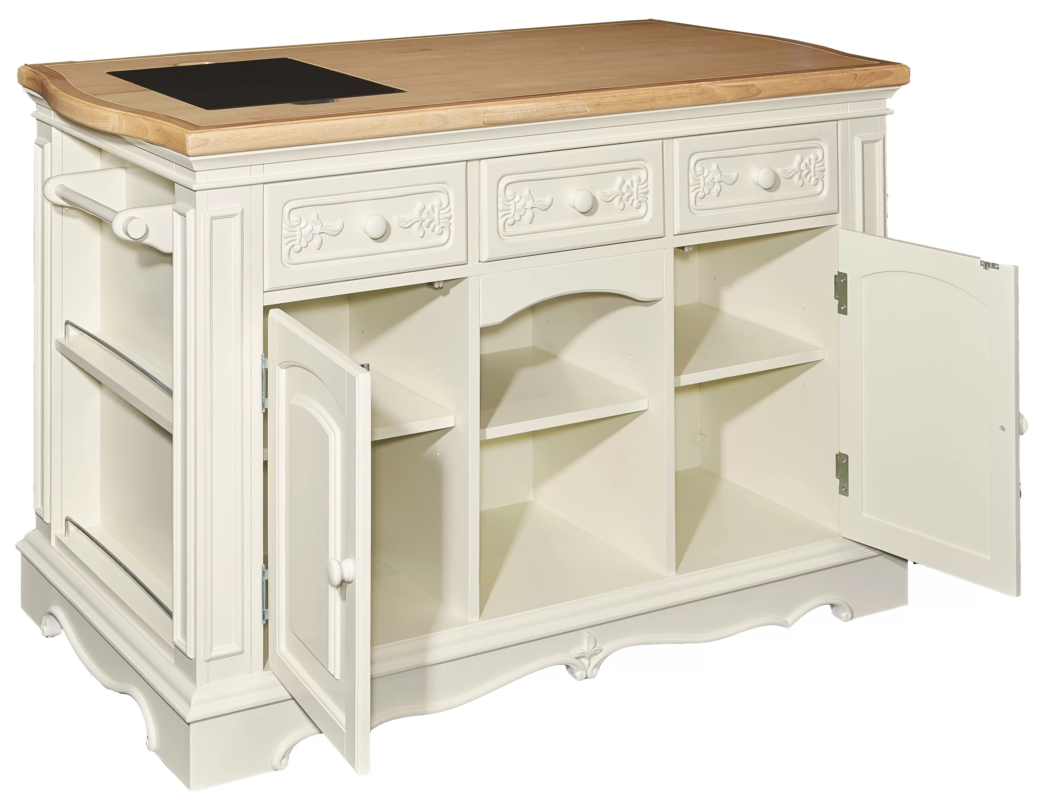 Hofmeister Big Sofa Darby Home Co Hofmeister Kitchen Island With Butcher Top