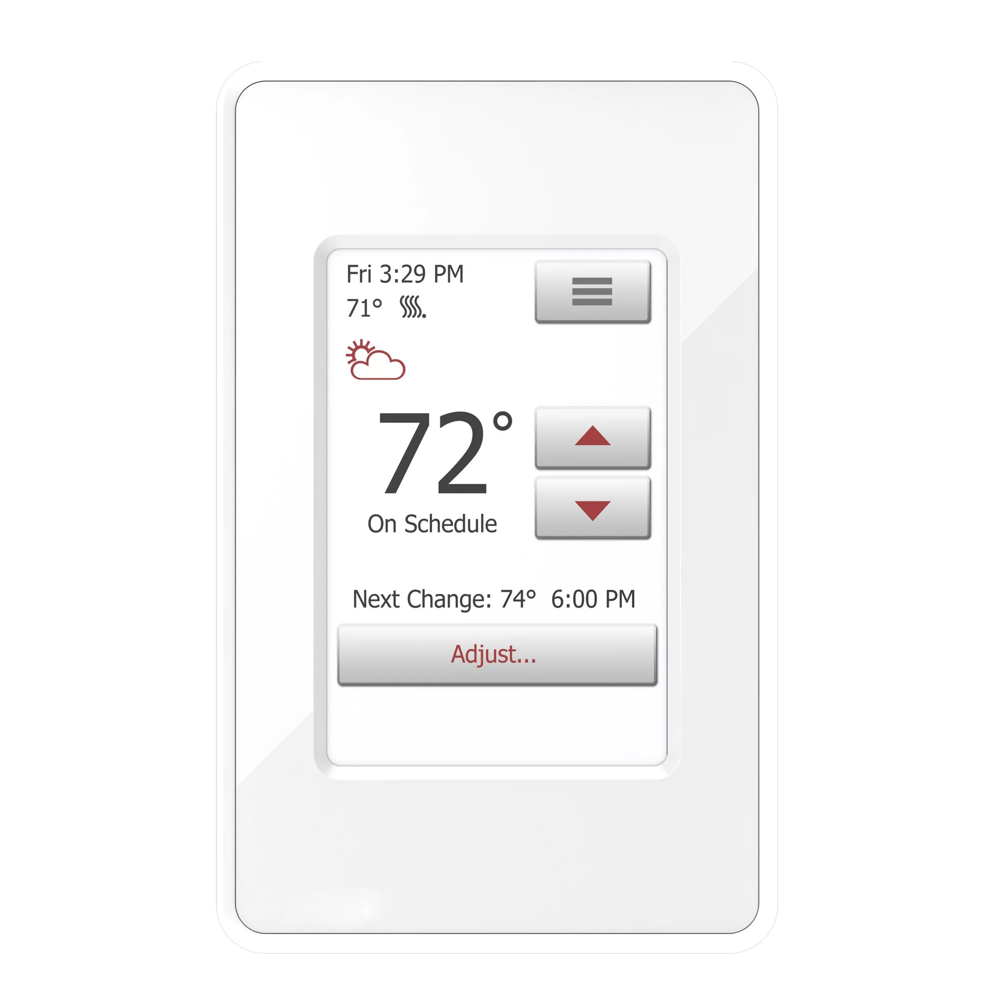 Heating Thermostat Floor Heating Kit With Flex Roll And Nspire Touch Programmable Thermostat