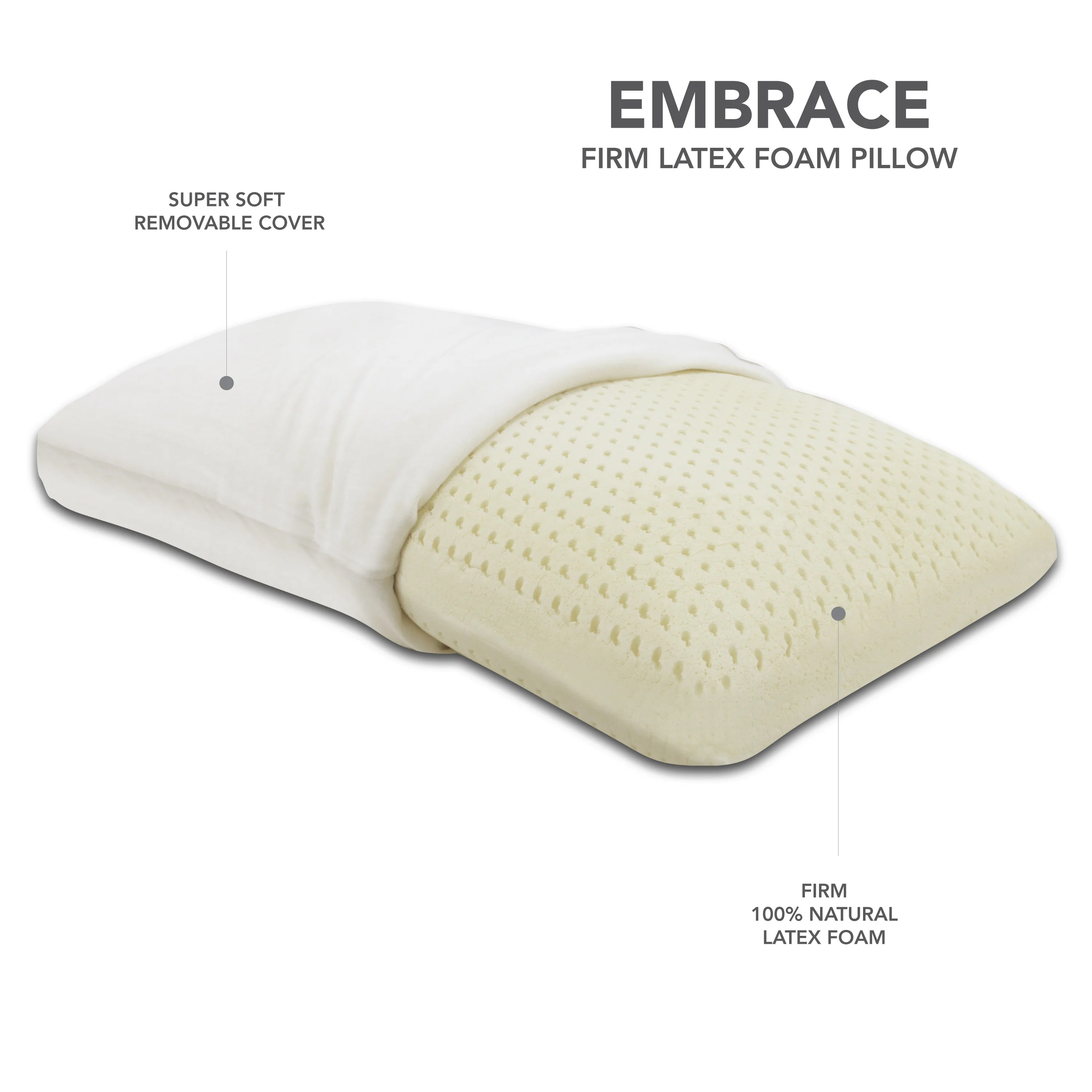 Latex Foam Mattress Embrace Firm 100 Percent Ventilated Dunlop Latex Foam Pillow