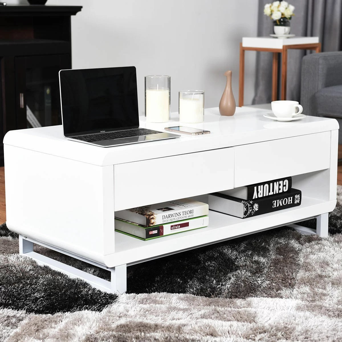 Modern Coffee Table With Storage Pamela Modern Coffee Table With Storage