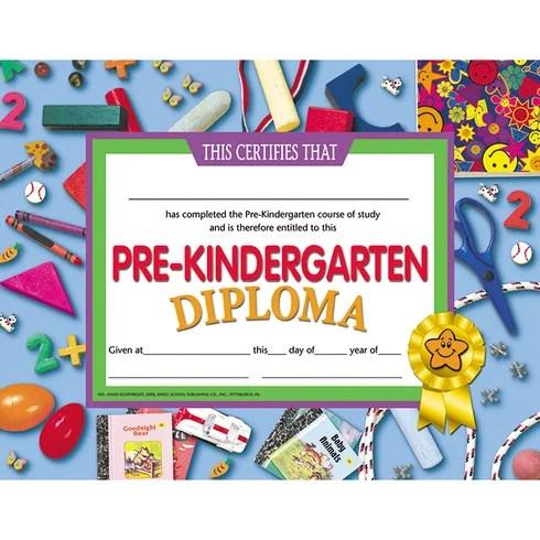 Hayes School Publishing Pre-kindergarten Diploma Certificate Wayfair