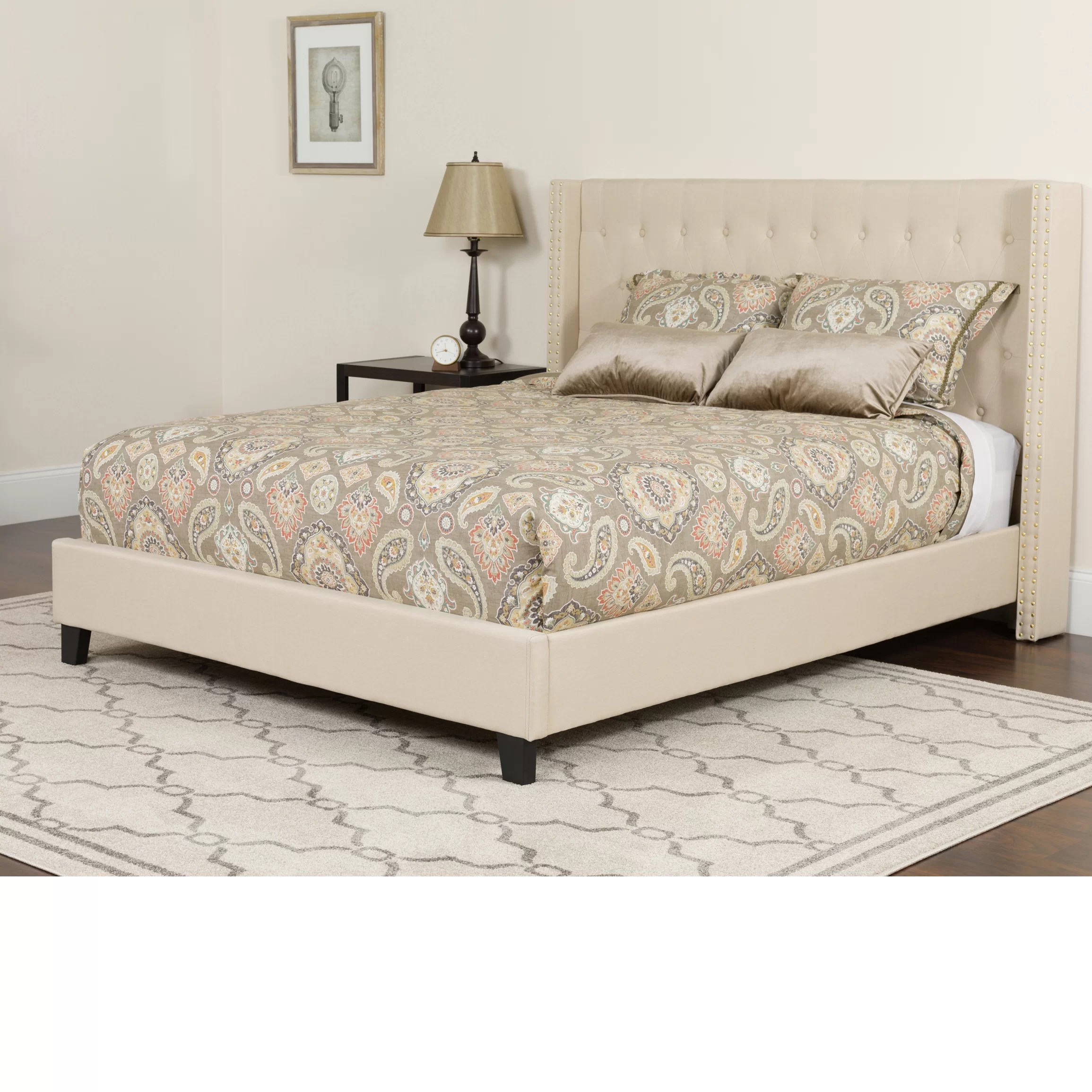 Mattress Platform Konieczny Tufted Upholstered Platform Bed With Mattress