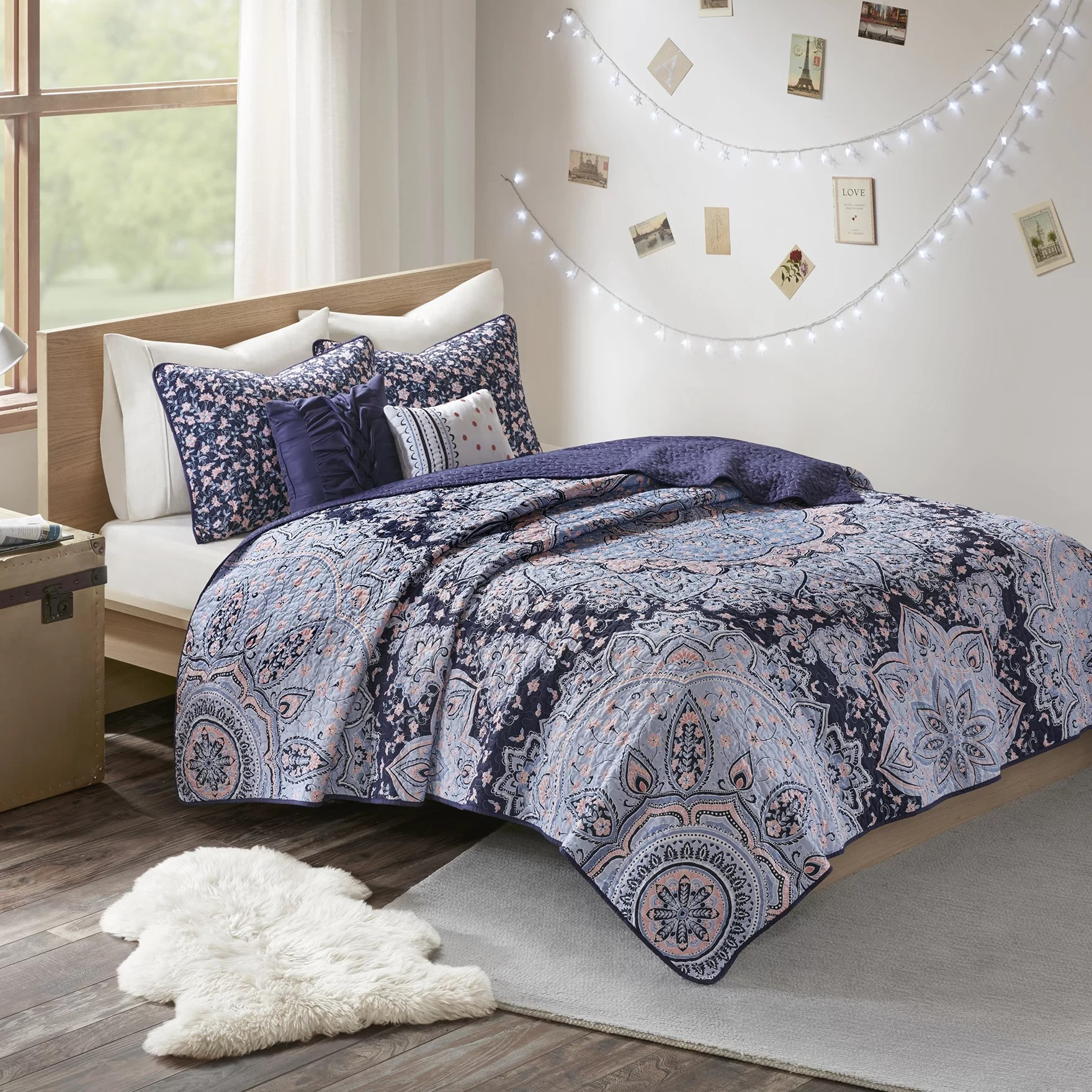 Bed Coverlet Vanmatre Boho Coverlet Set