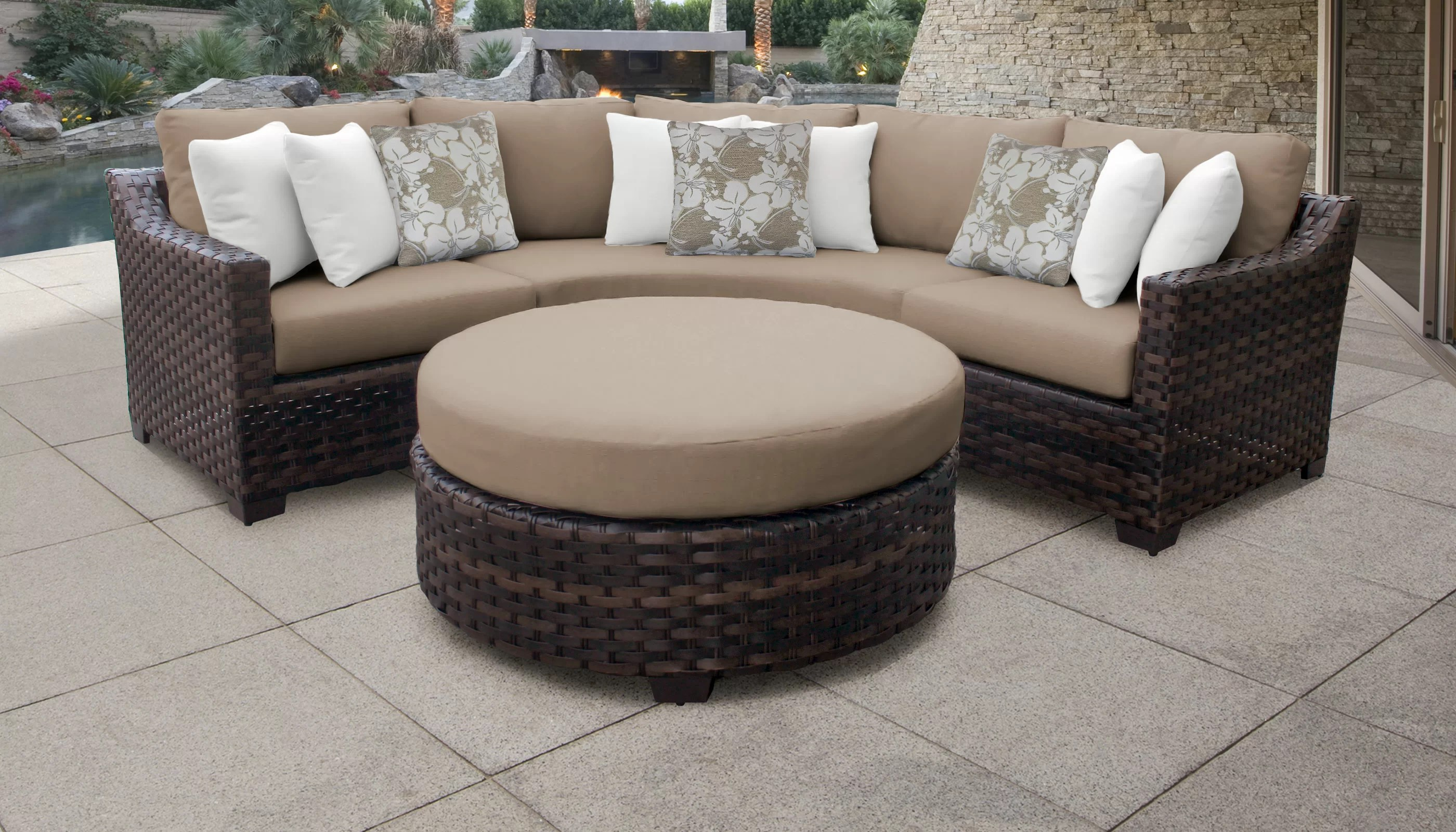 Rattan Corner Sofa Ireland Kathy Ireland Homes Gardens River Brook 4 Piece Outdoor Wicker Patio Furniture Set 04b
