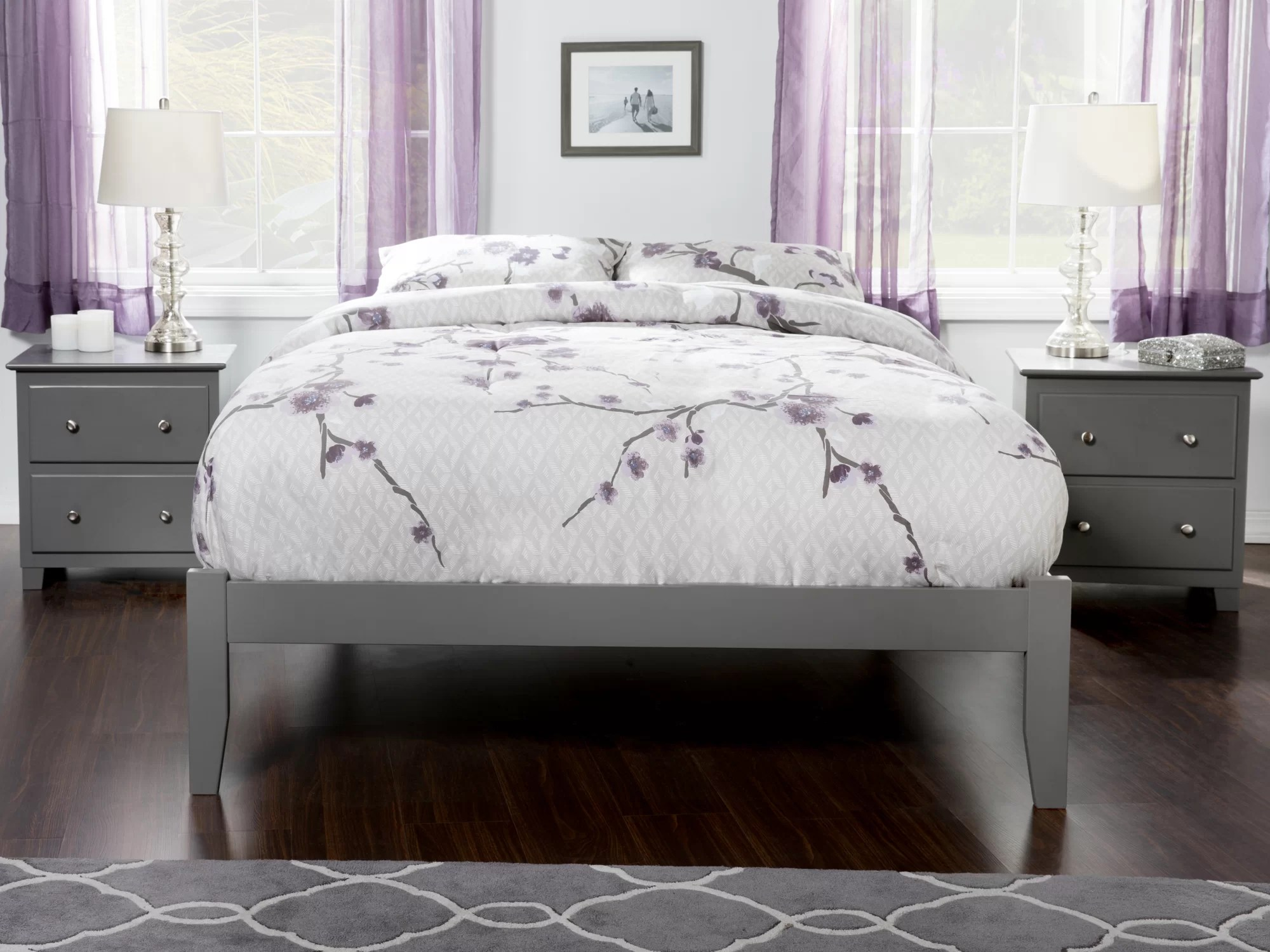 Full Double Bed Rola Full Double Platform Bed With Open Footboard