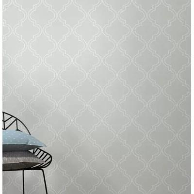 Bourget  Trellis 3d Embossed Wallpaper Roll Wallpaper Birch Lane