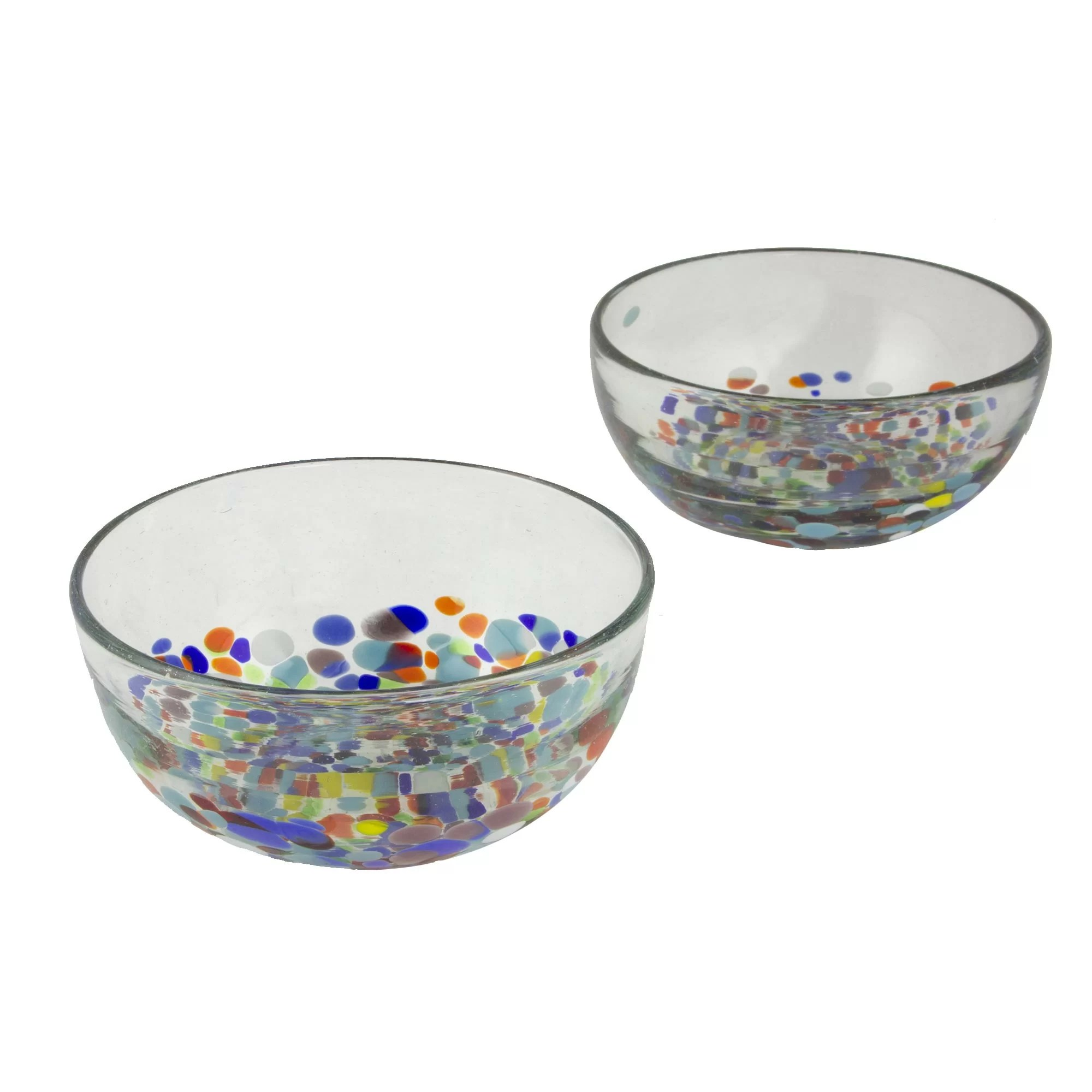 Decorative Glass Bowls Confetti Festival Decorative Glass Bowl