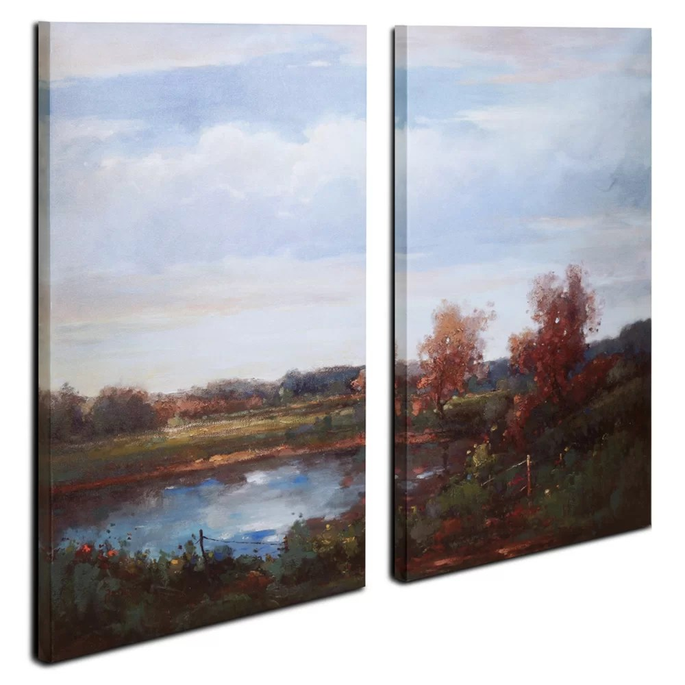 Fly Argenteuil Lake 01 Oil Painting Print Multi Piece Image On Canvas