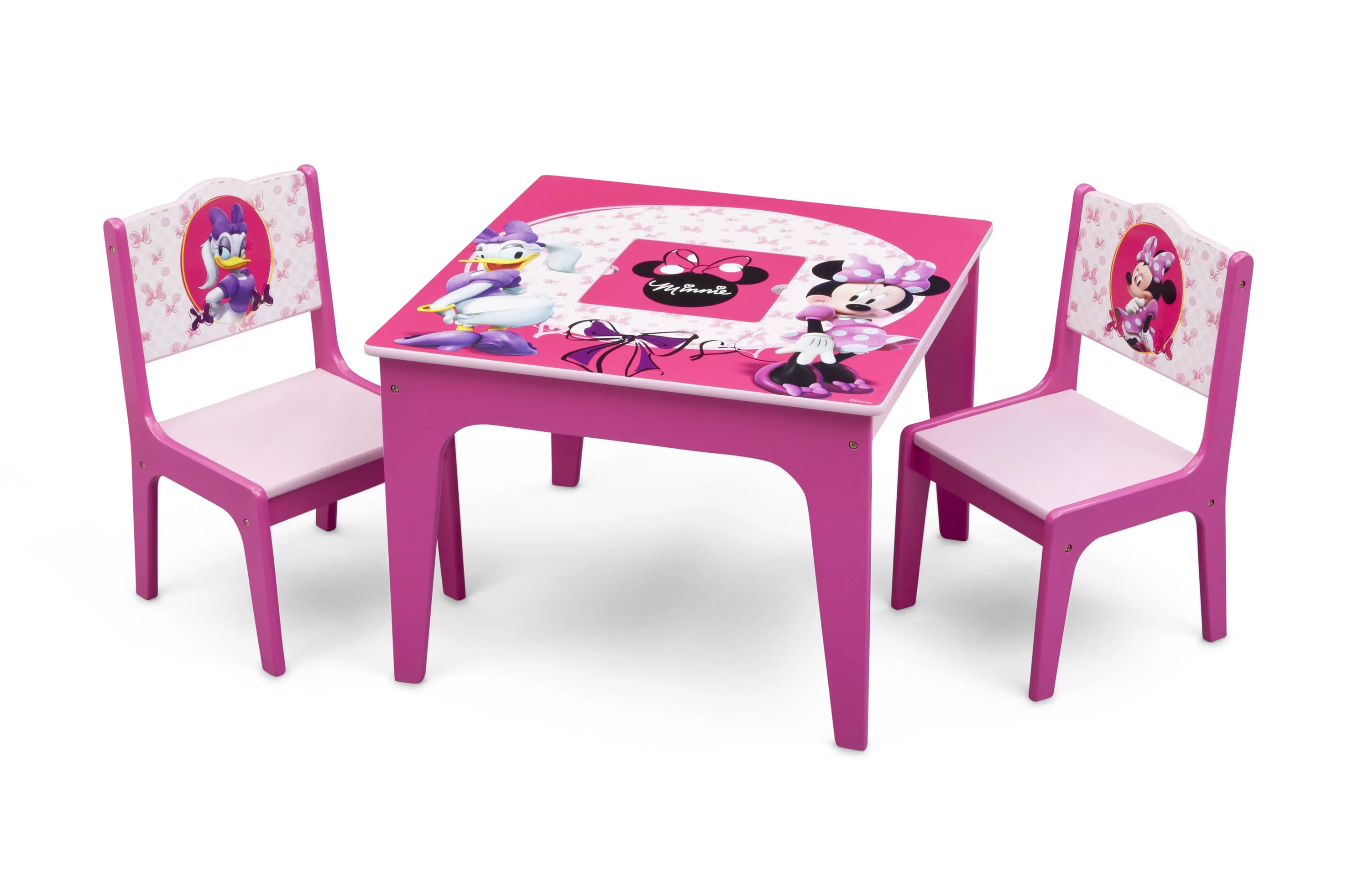 Table Chaise Minnie Delta Children Minnie Mouse Kids 3 Piece Table And Chair