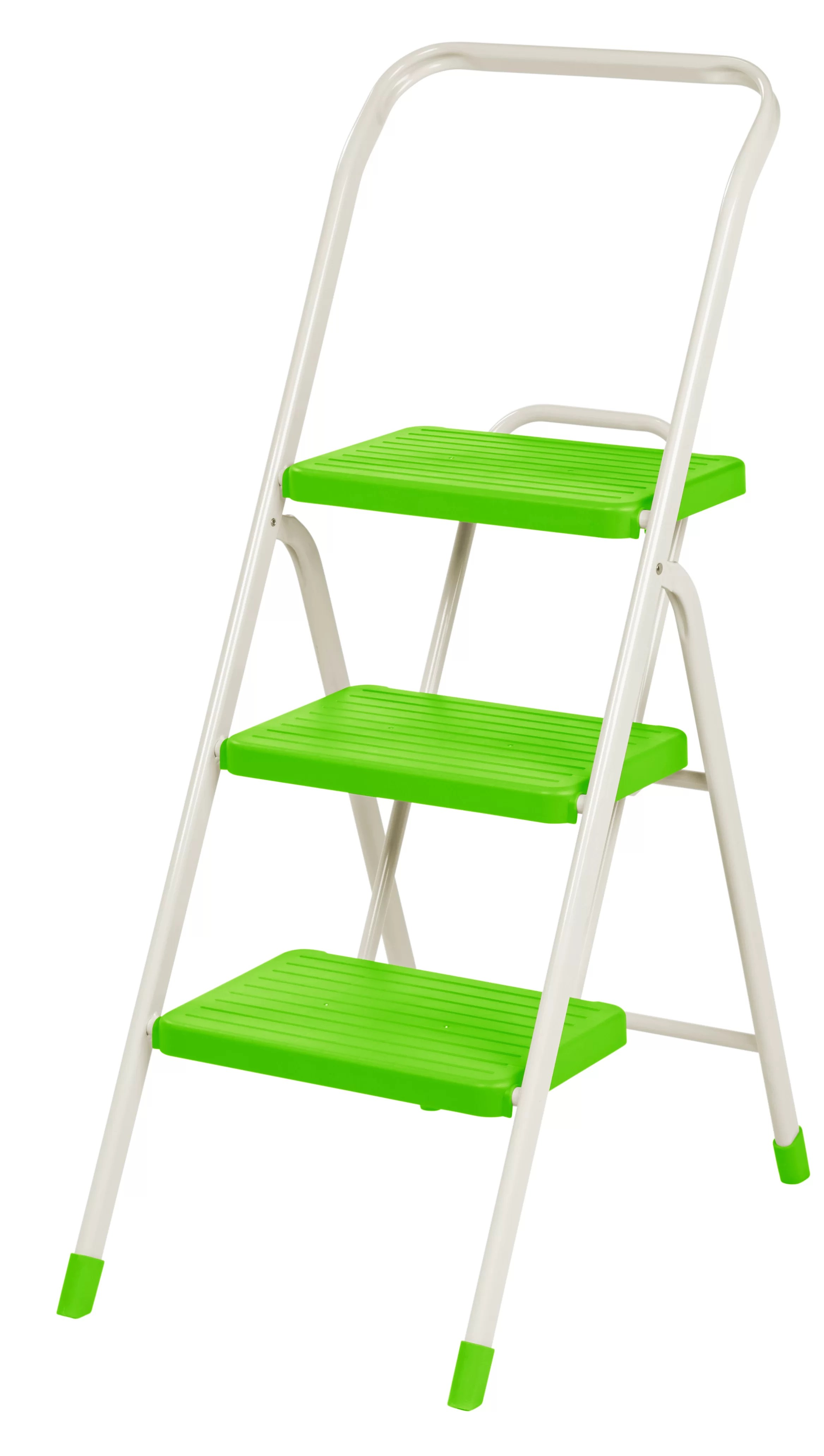 Metal Step Stool 3 Step Folding Step Stool With 225 Lb Load Capacity