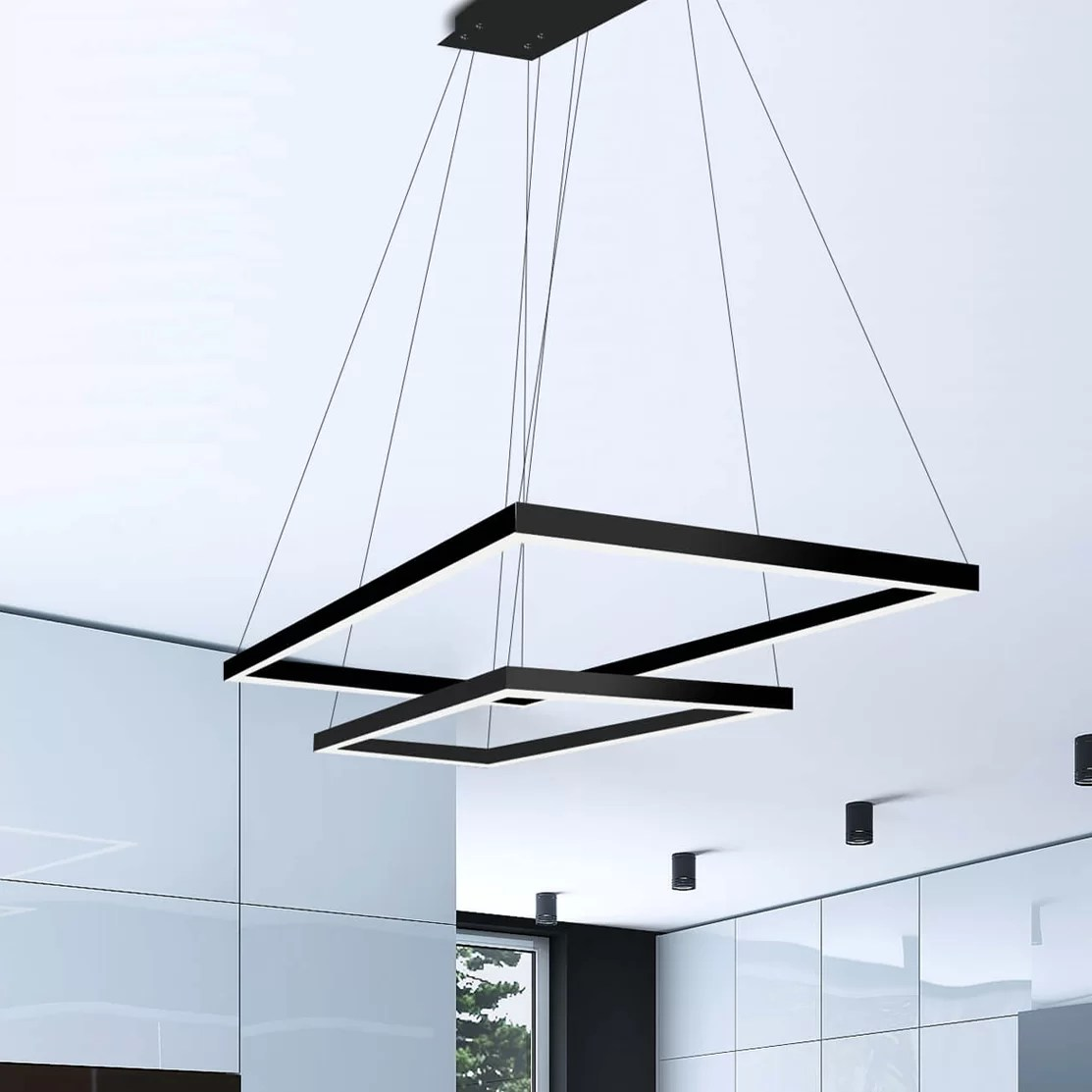 Led Chandelier Donovan 2 Lights Led Square Rectangle Chandelier