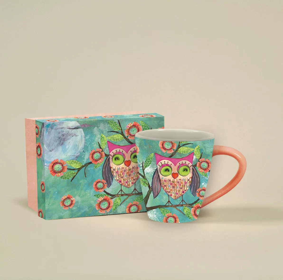 Mug A Cafe 17 Oz Happy Owl Café Mug