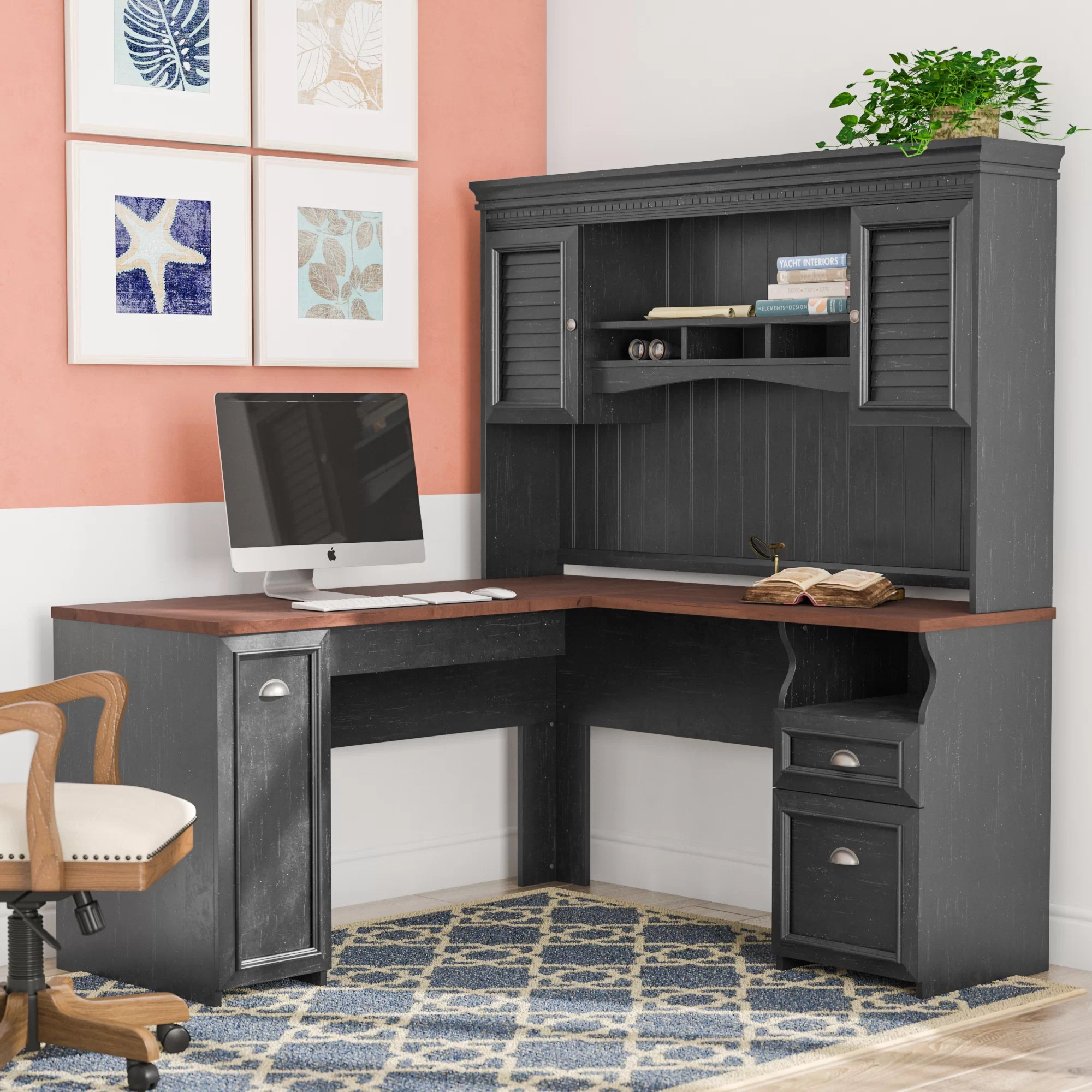 Executive L Shaped Desk Oakridge L Shape Executive Desk With Hutch
