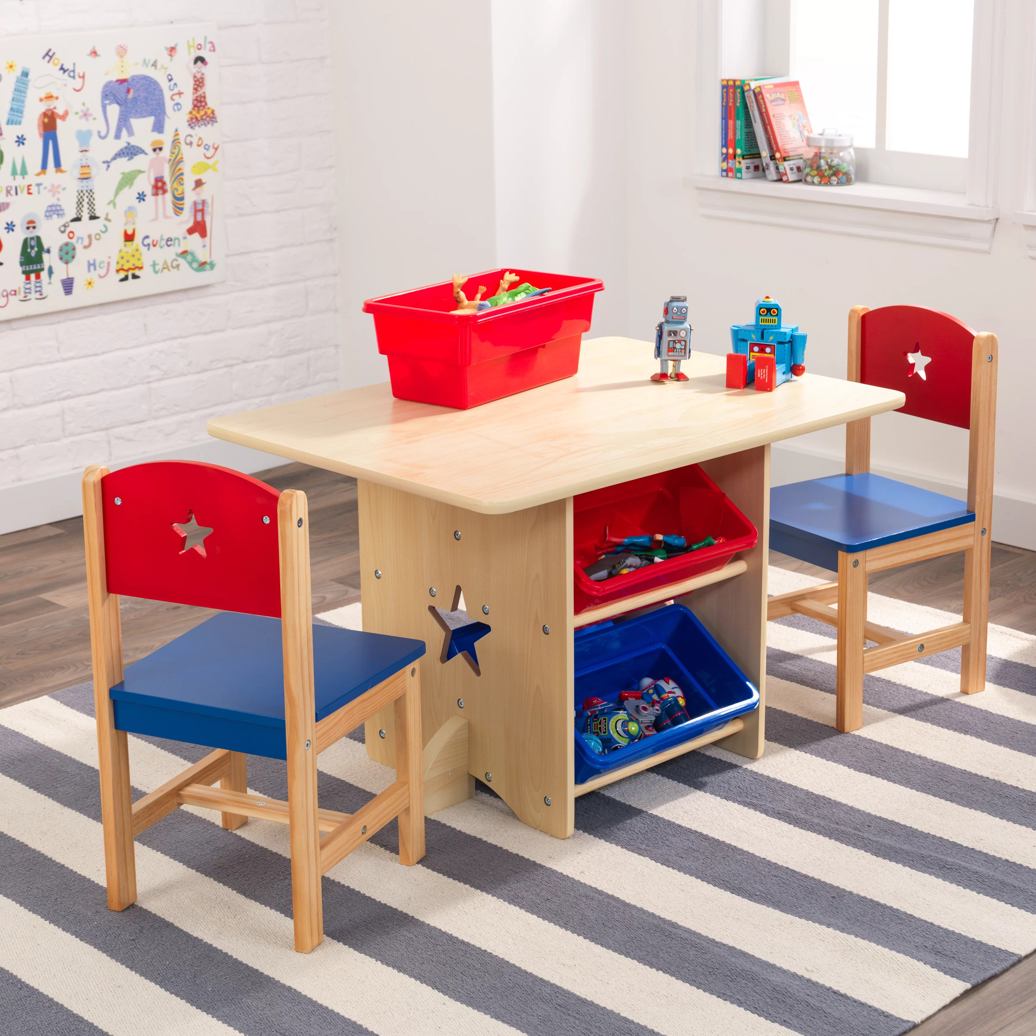 Lincraft Curtain Rods Star Kids 5 Piece Arts And Crafts Table And Chair Set