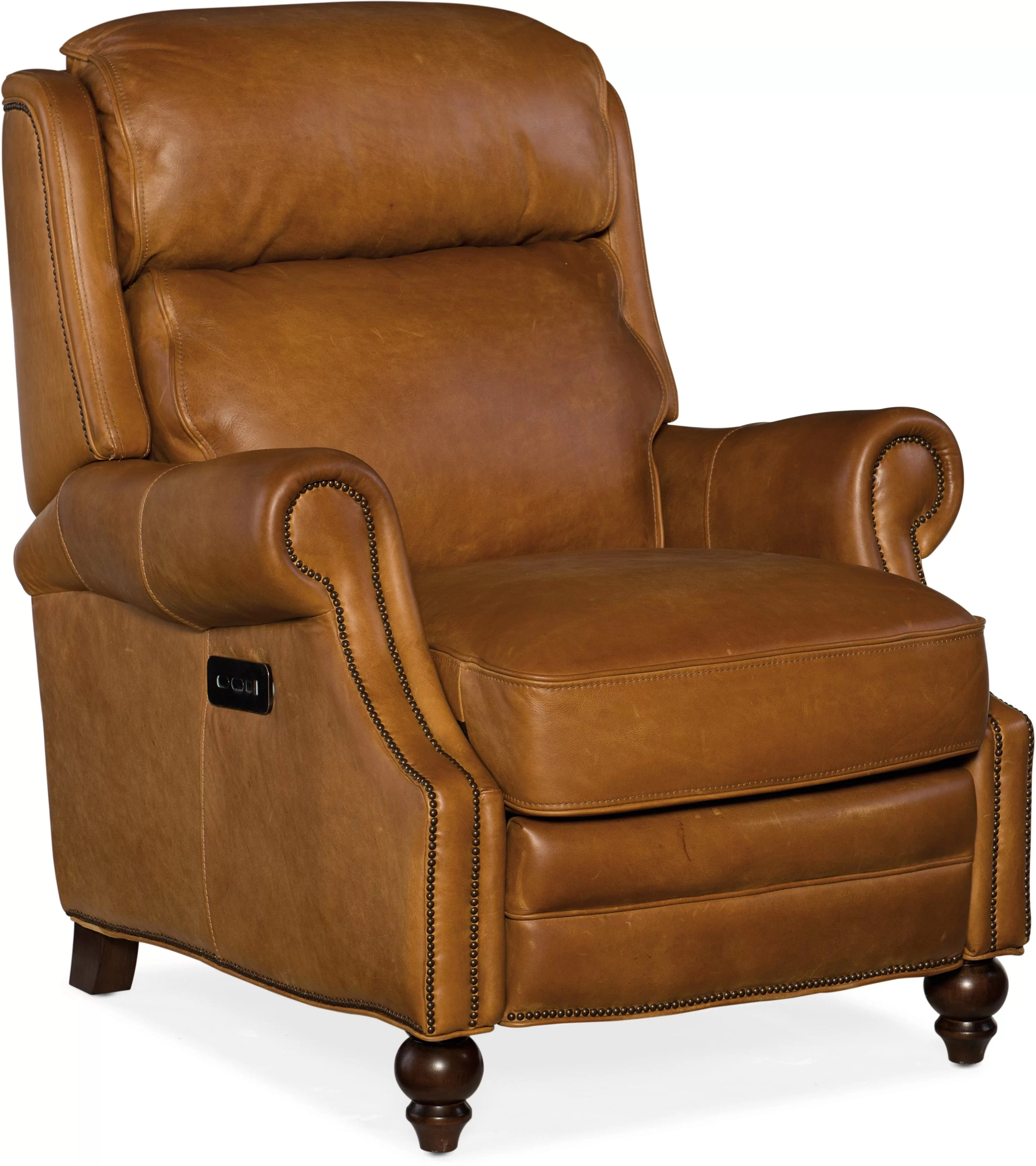 Electric Recliner Leather Chairs Fifer Leather Power Recliner