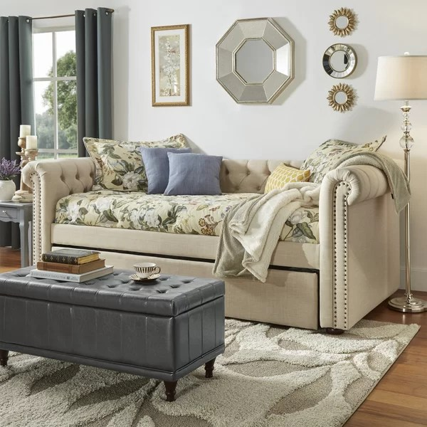 Three Posts New Britain Daybed with Trundle  Reviews Wayfair