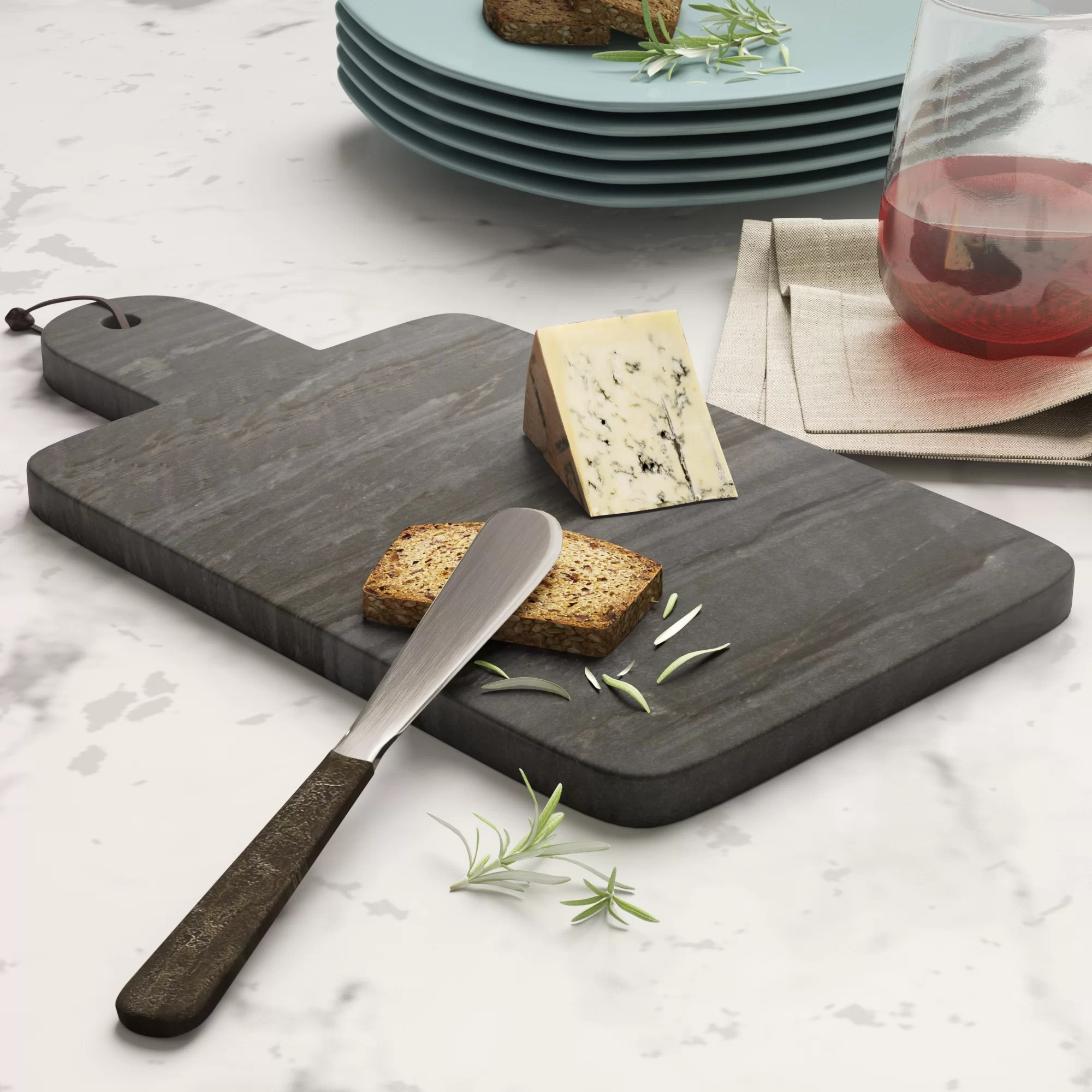 Small Marble Cutting Board Gilberton Small Marble Paddle Serving Board