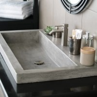 Native Trails Trough Stone Rectangular Drop-In Bathroom ...