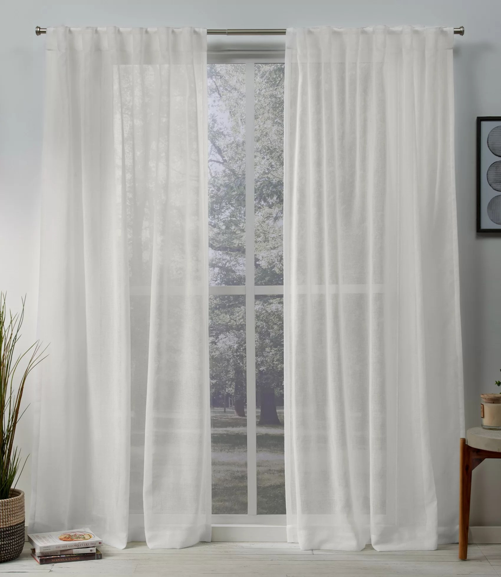 Tab Top Curtain Mirfield Solid Color Sheer Tab Top Curtain Panels