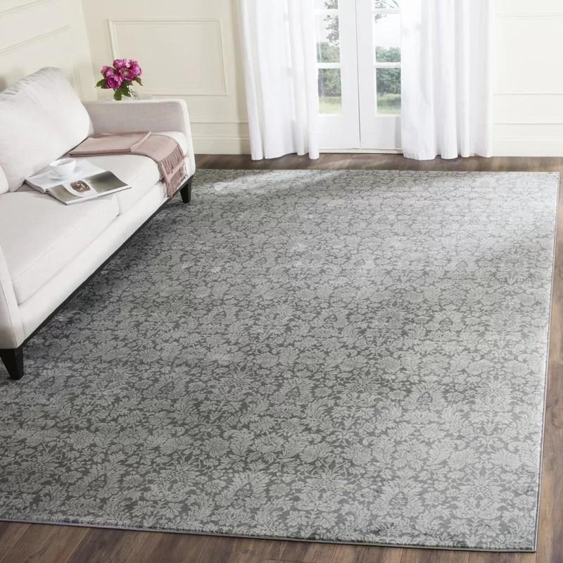 Bungalow Rose Vishnu Dark Gray \/ Light Grey Area Rug \ Reviews - grey living room rug