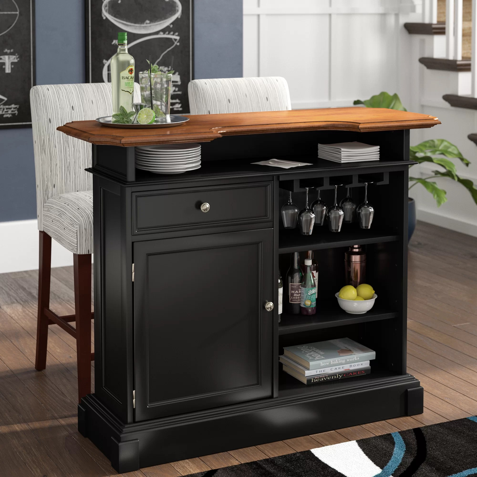 Home Bar Furniture Three Posts Benally Home Bar Wayfair