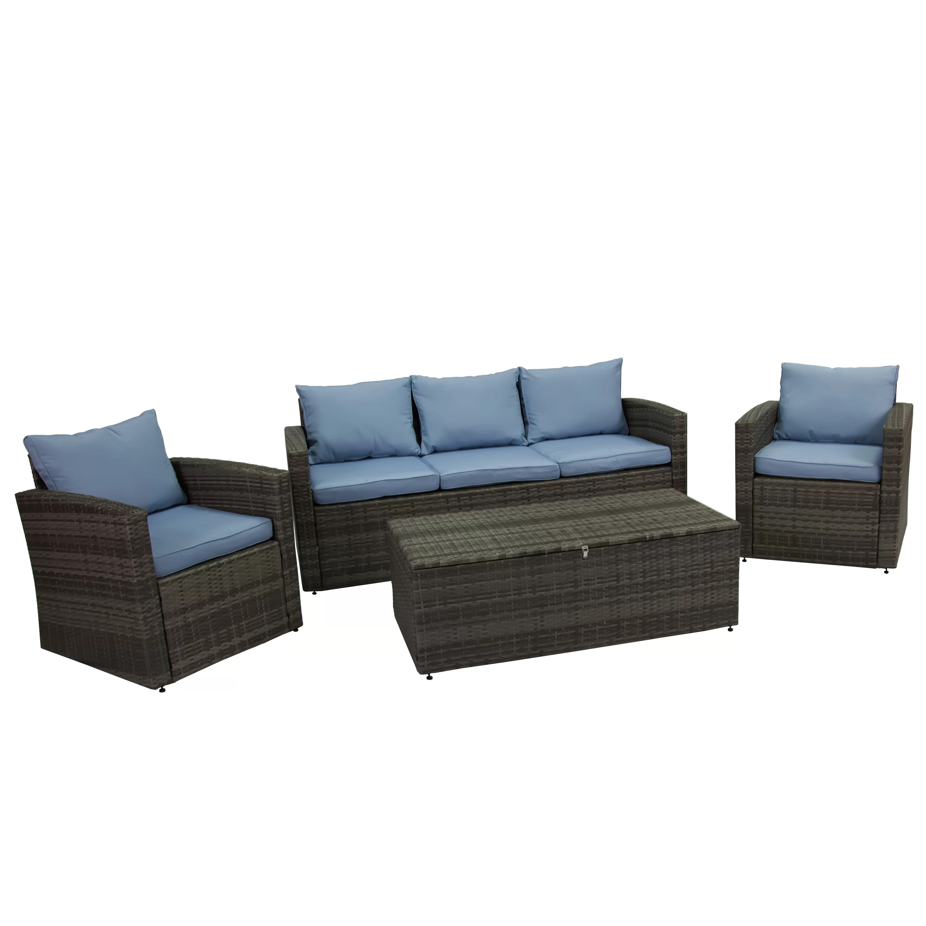 Rattan Sofa Arlington 4 Piece Rattan Sofa Seating Group With Cushions